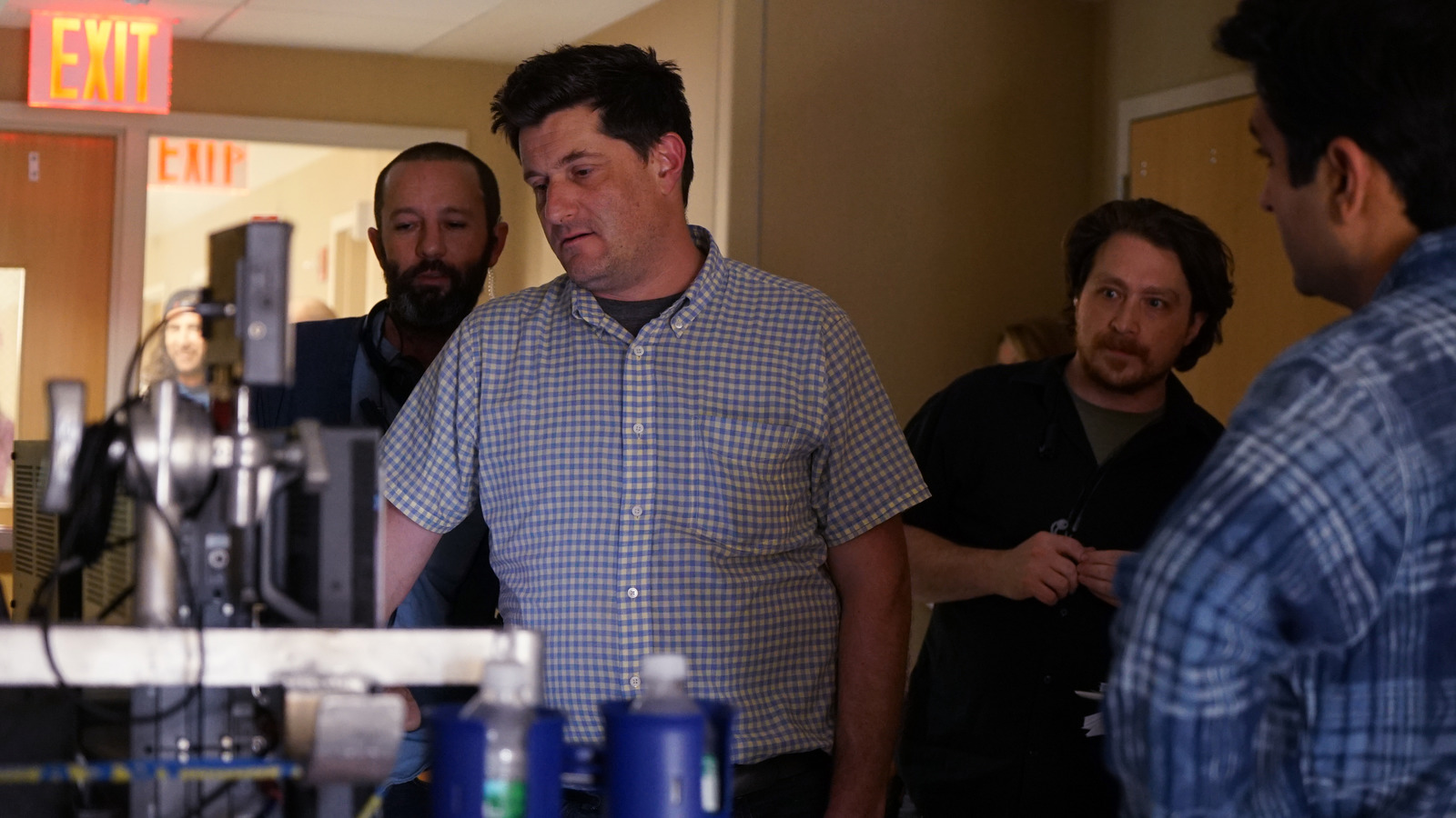 Director Michael Showalter on the set of The Big Sick.