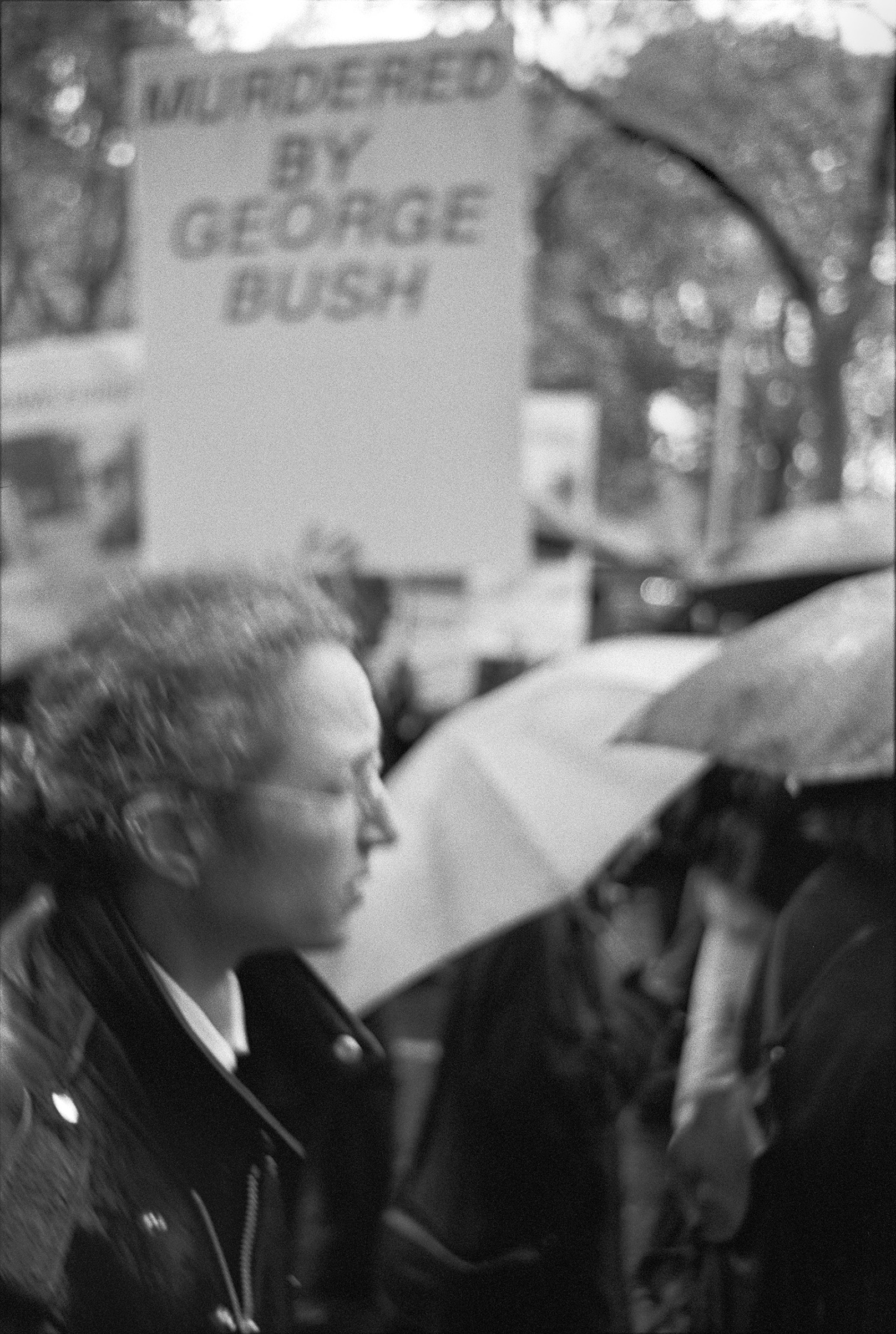 From the ACT UP funeral march carrying the body of Mark L. Fisher from Judson Memorial Church up Sixth Avenue to the Republican National Committee headquarters on the eve of the presidential election, 1992.