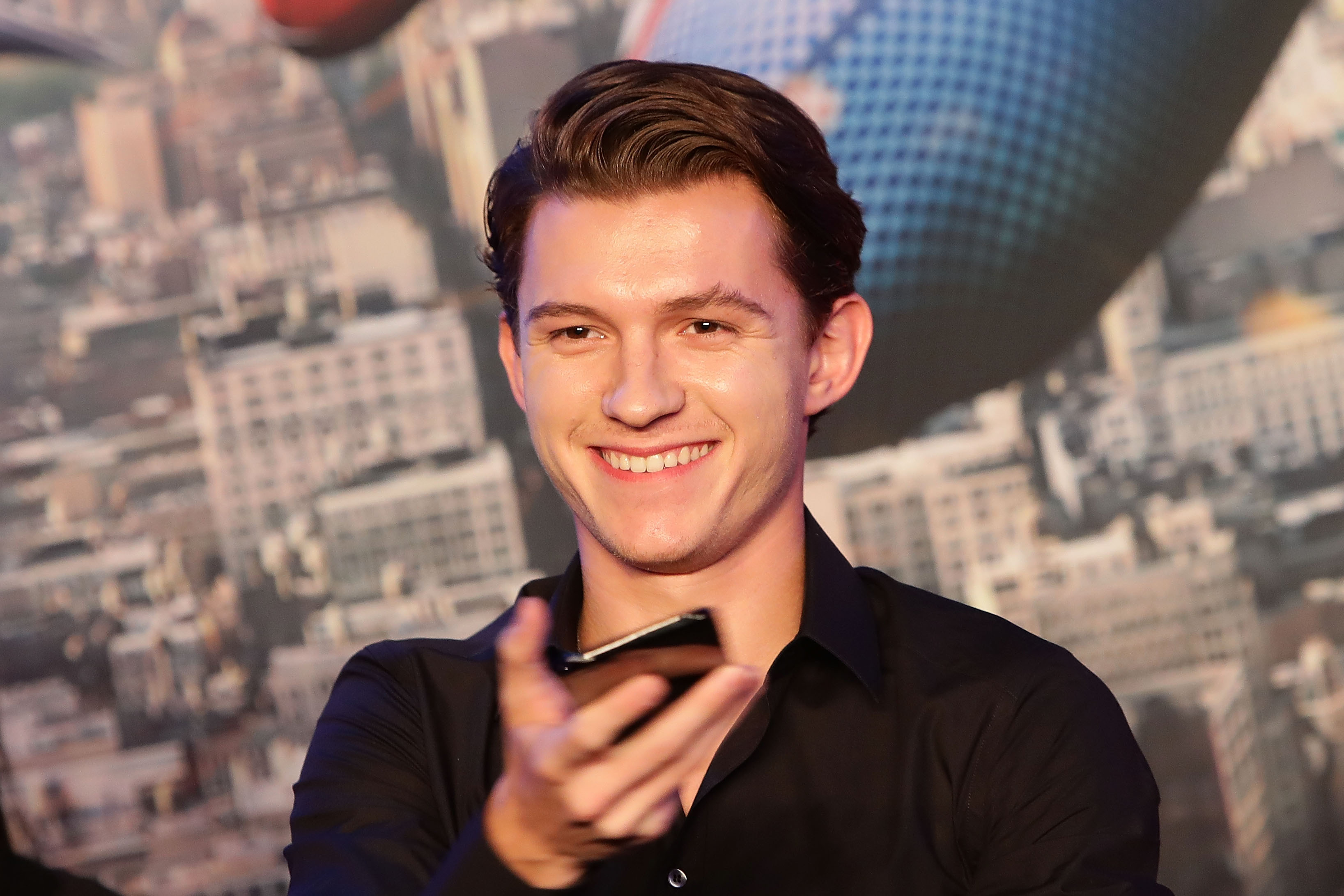 Tom Holland attends the 'Spider-Man: Homecoming' press conference on July 3, 2017 in Seoul, South Korea.