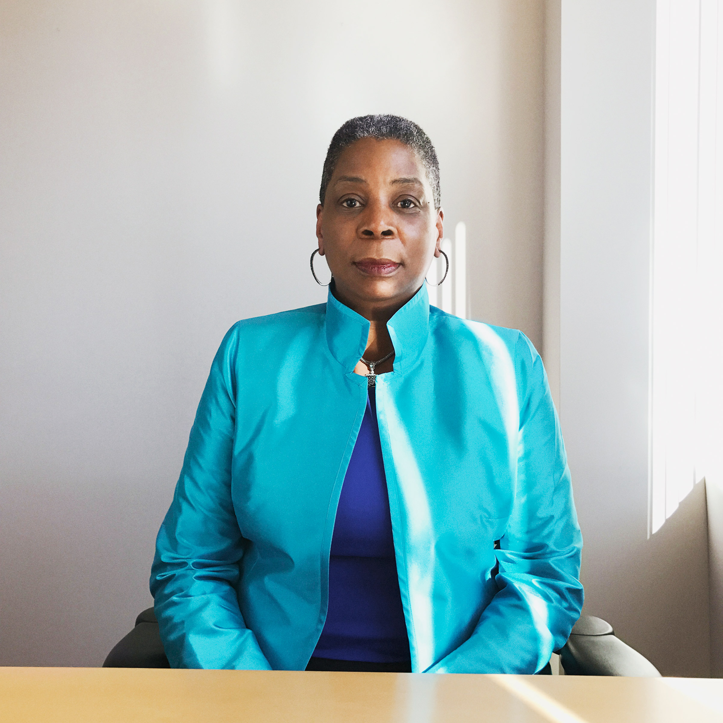 Portrait of Ursula Burns, photographed in the Xerox office in Stamford CT, November 11, 2016.