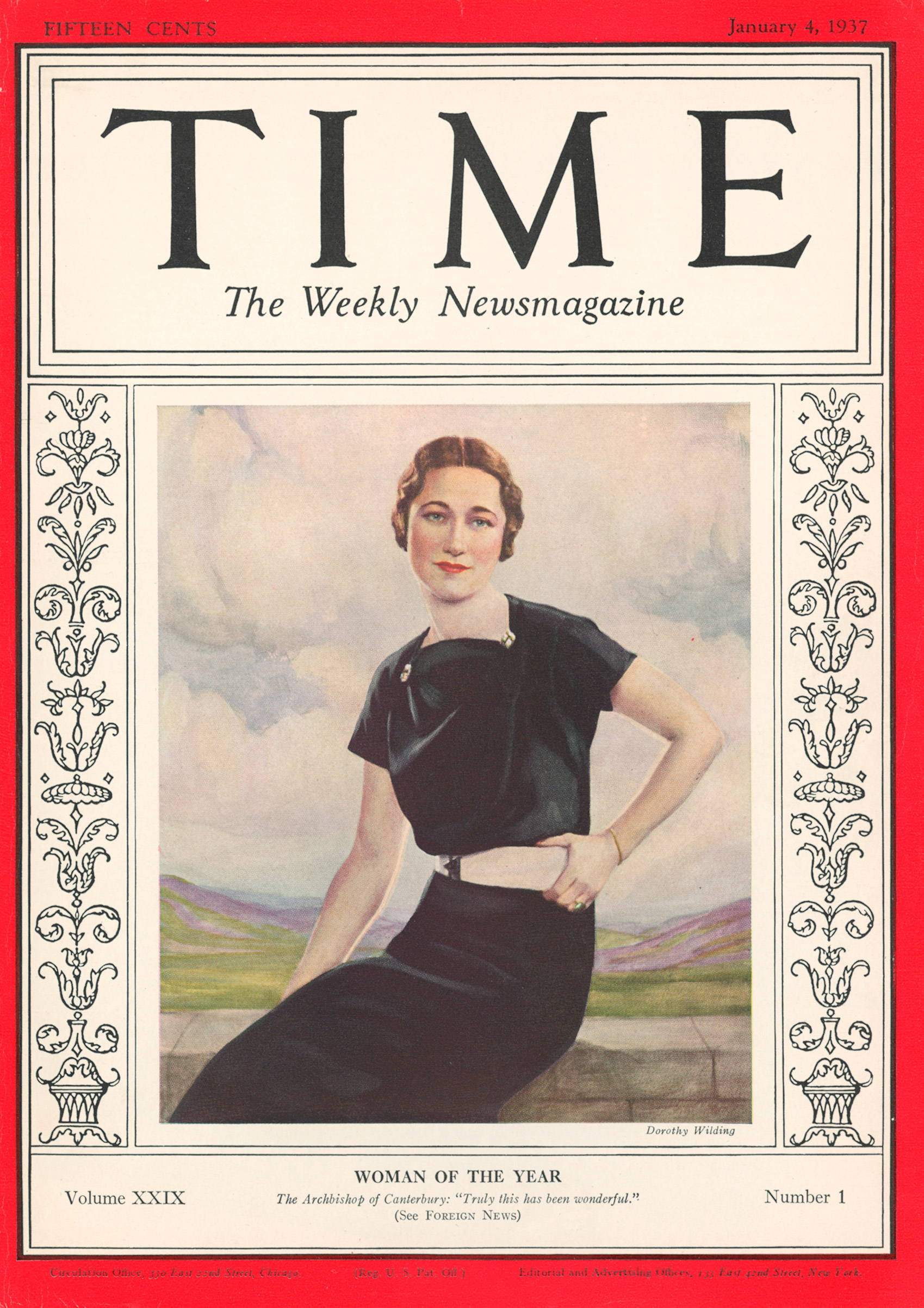 WALLIS SIMPSON became TIME magazine's first female Person of the Year for 1936.