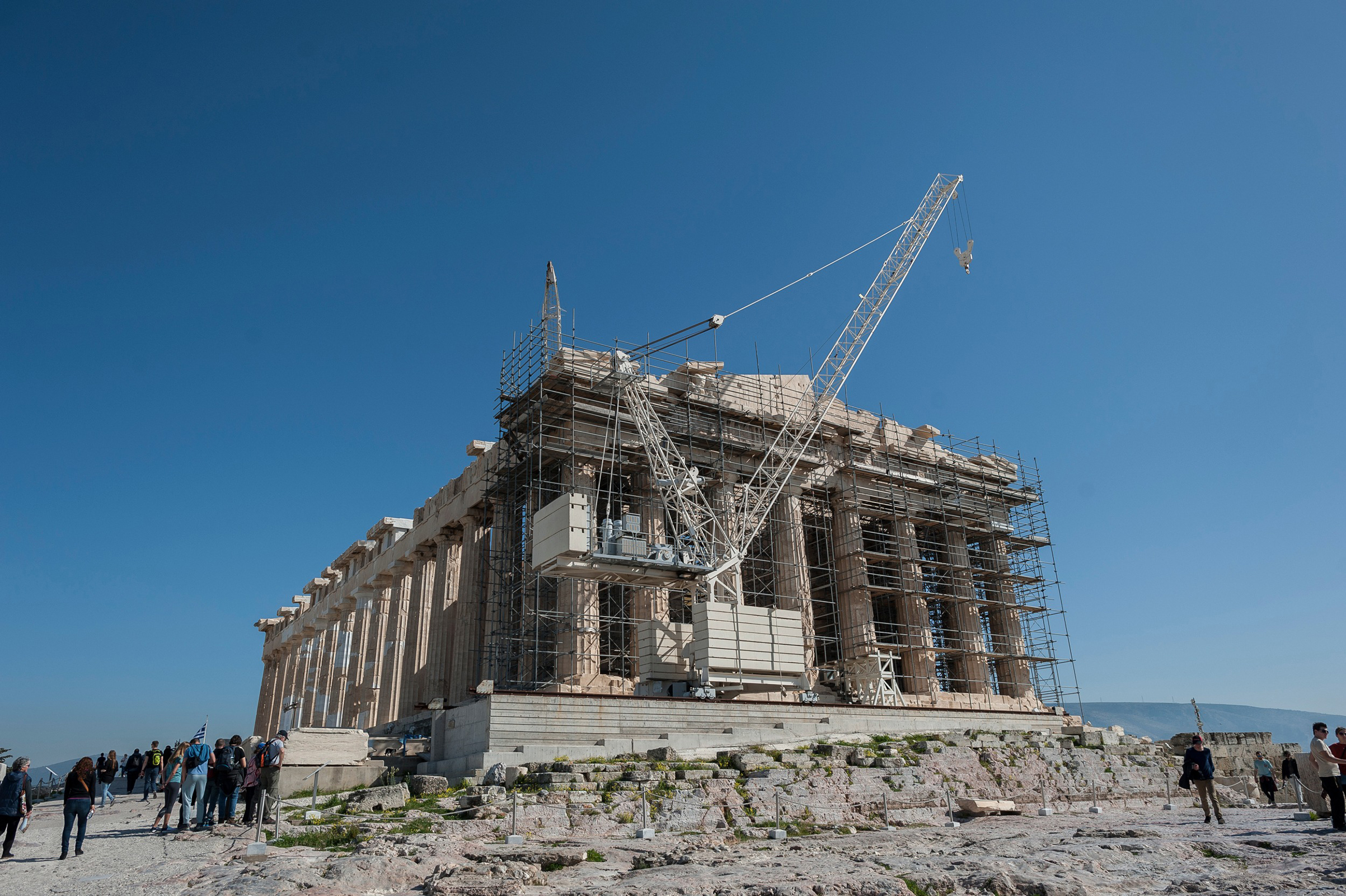 Work on the Acropolis is expected to continue through 2020