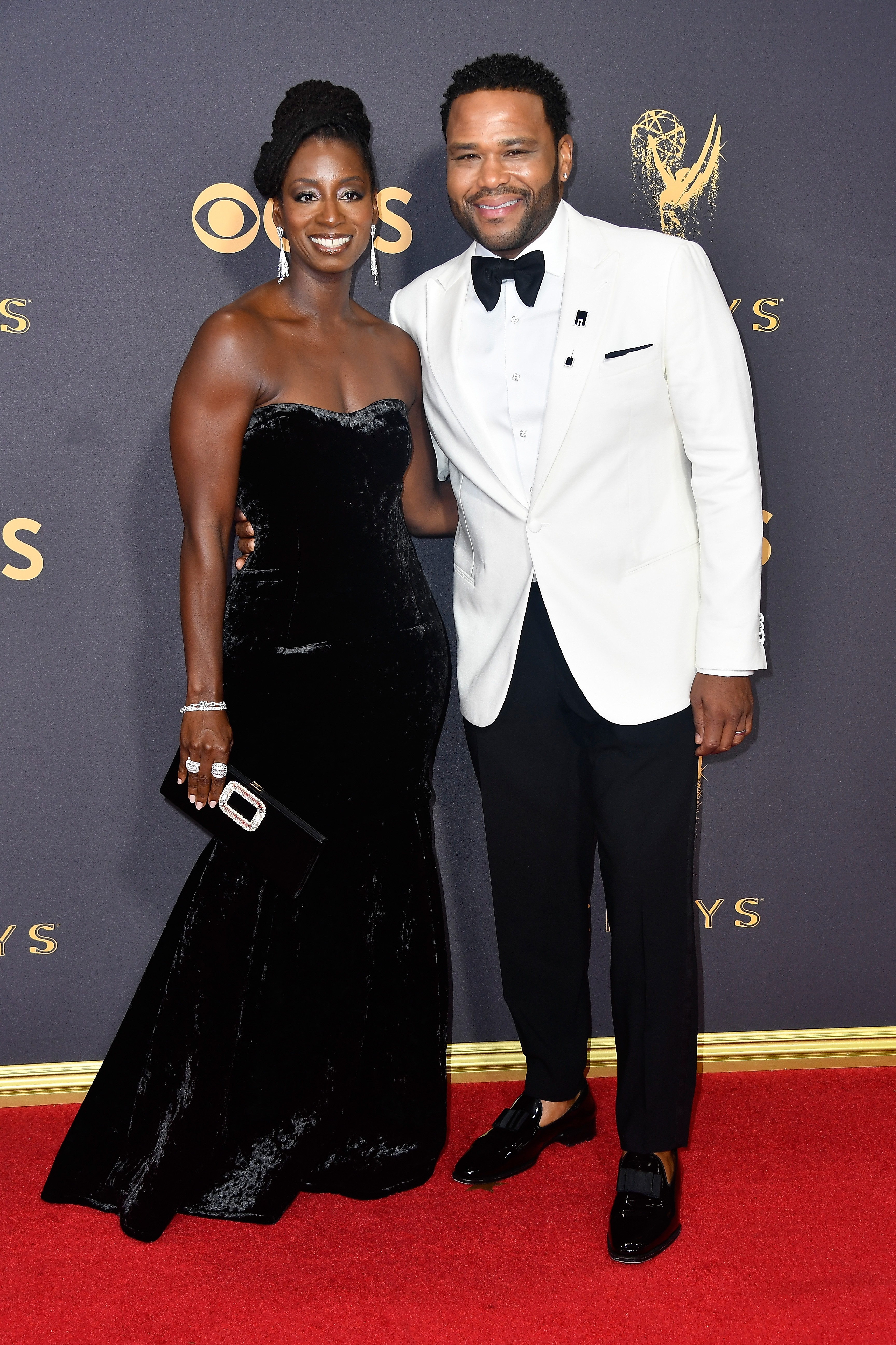 Actor Anthony Anderson (R) and Alvina Stewart attend the 69th Annual Primetime Emmy Awards at Microsoft Theater on September 17, 2017 in Los Angeles, California.