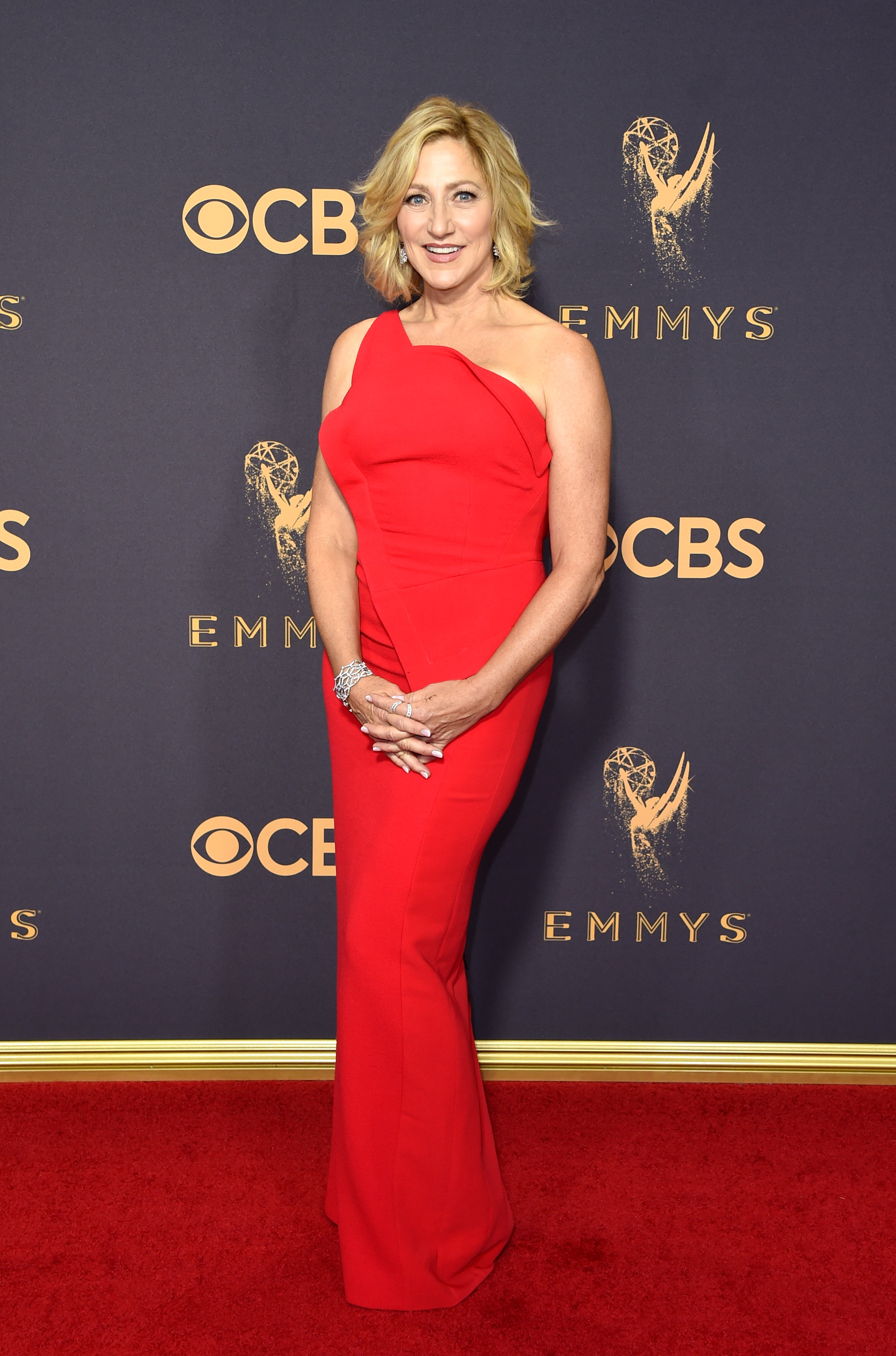 Actor Edie Falco attends the 69th Annual Primetime Emmy Awards at Microsoft Theater on Sept. 17, 2017 in Los Angeles.