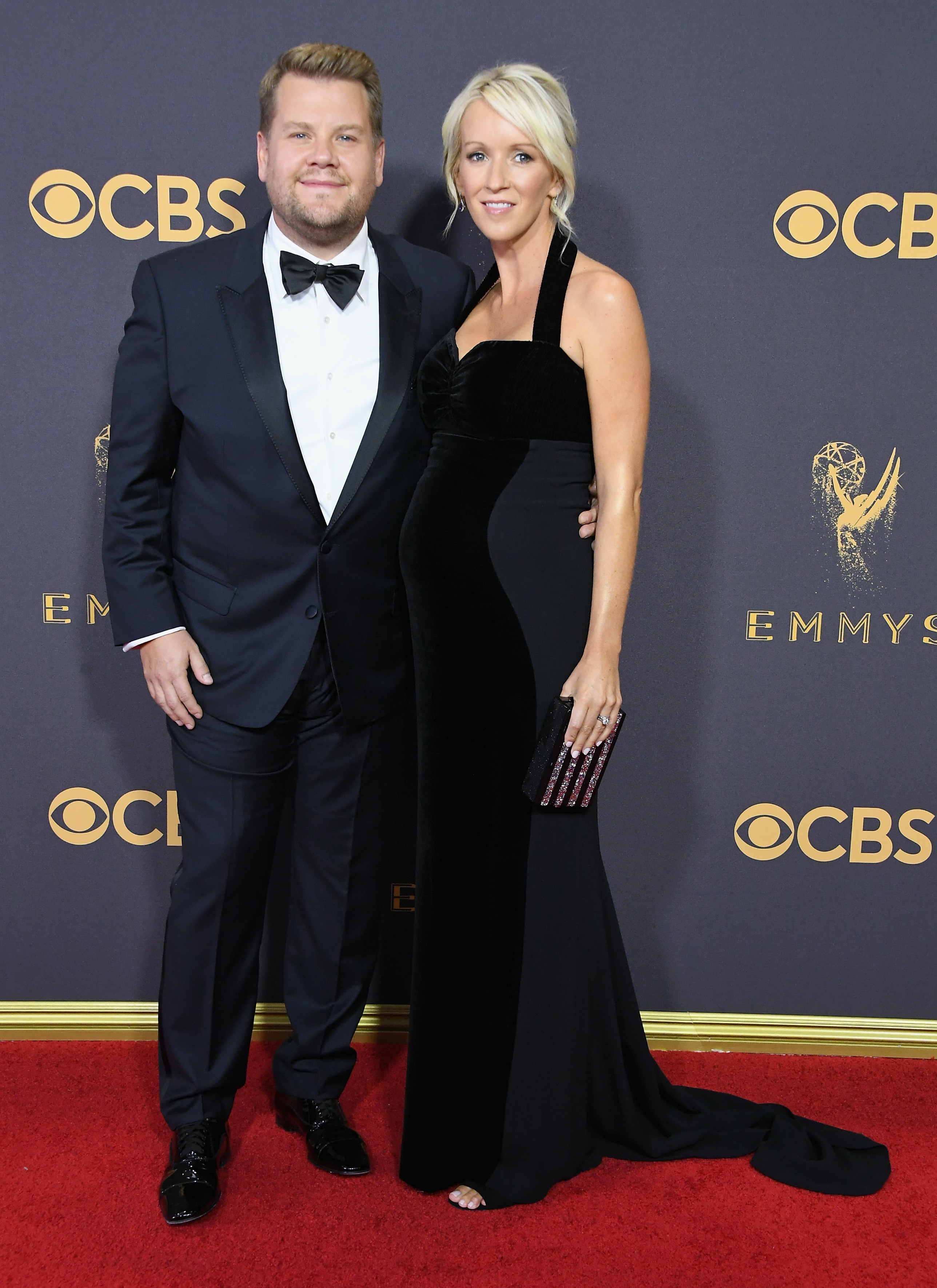 TV personality James Corden (L) and Julia Carey attend the 69th Annual Primetime Emmy Awards at Microsoft Theater on September 17, 2017 in Los Angeles, California.