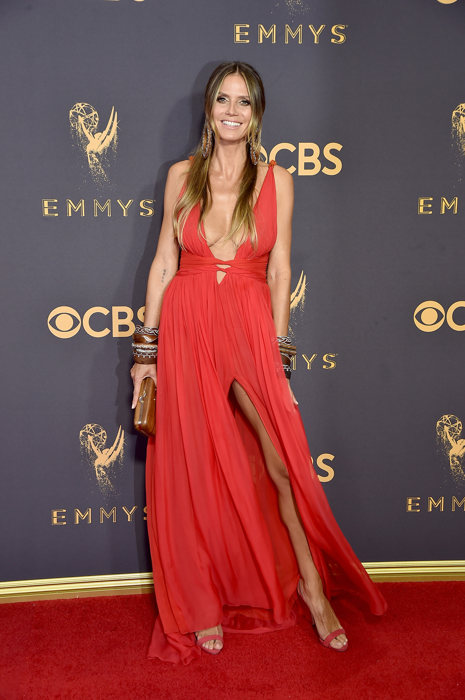 TV personality/model Heidi Klum attends the 69th Annual Primetime Emmy Awards at Microsoft Theater on September 17, 2017 in Los Angeles, California.
