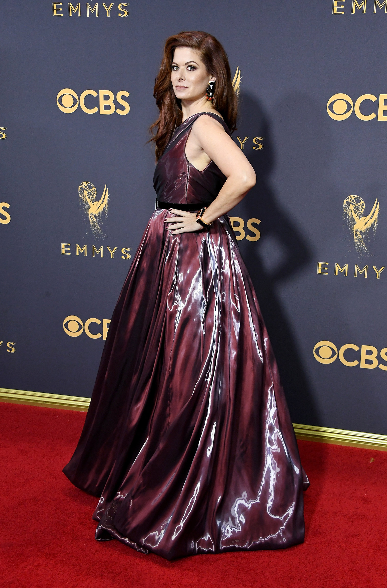 Actor Debra Messing attends the 69th Annual Primetime Emmy Awards at Microsoft Theater on September 17, 2017 in Los Angeles, California.