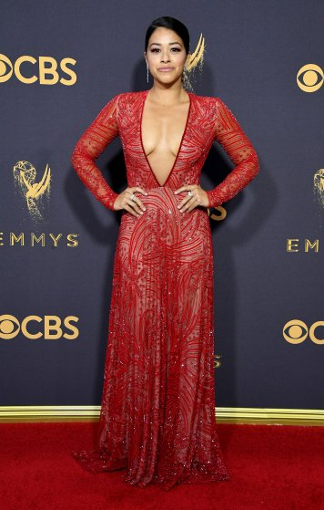 Actor Gina Rodriguez attends the 69th Annual Primetime Emmy Awards at Microsoft Theater on September 17, 2017 in Los Angeles, California.