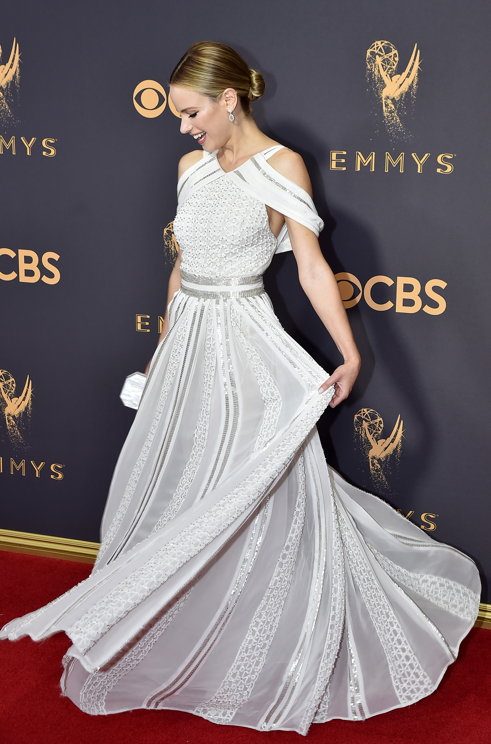 Actor Halston Sage attends the 69th Annual Primetime Emmy Awards at Microsoft Theater on September 17, 2017 in Los Angeles, California.