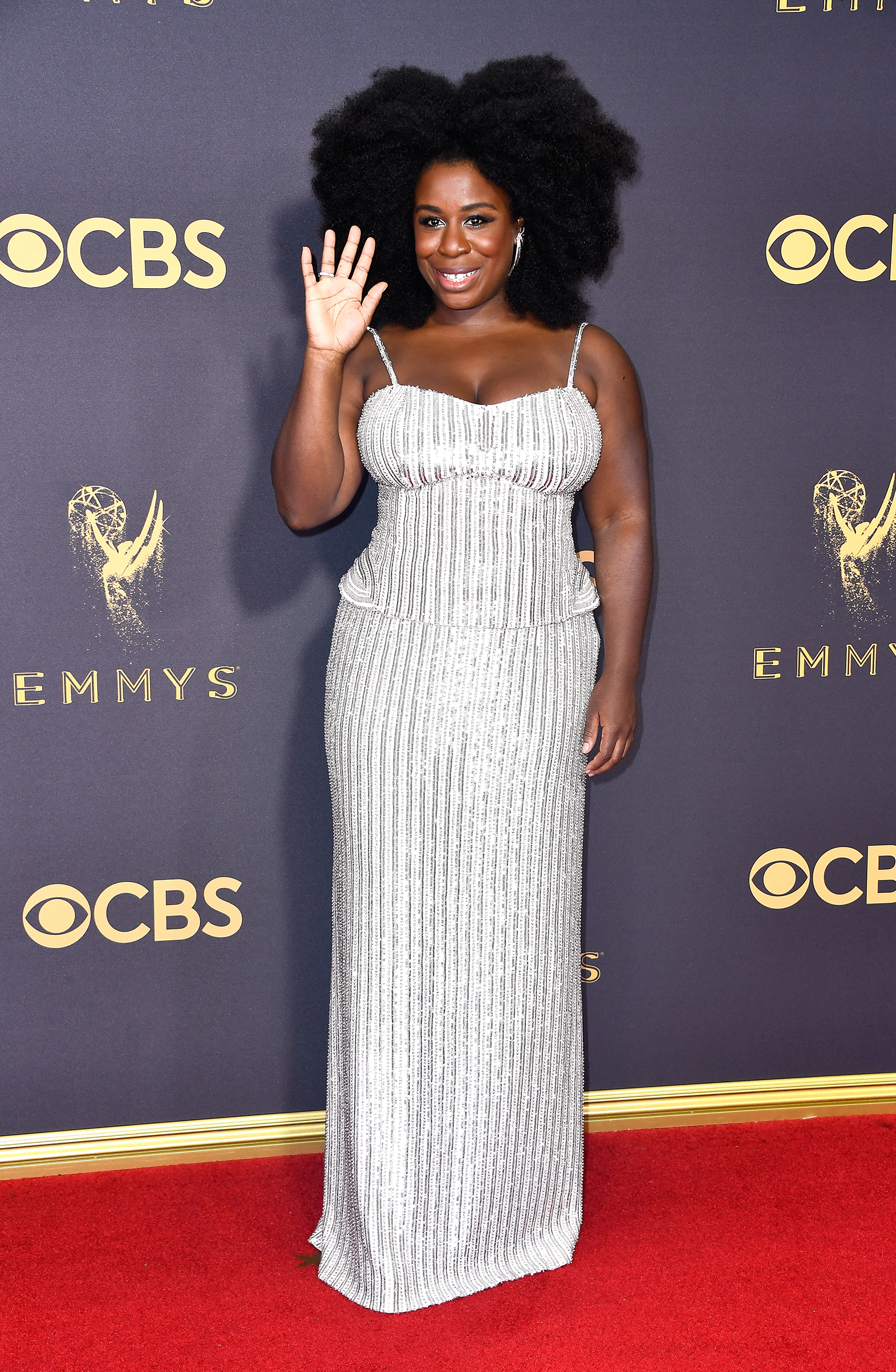 Actor Uzo Aduba attends the 69th Annual Primetime Emmy Awards at Microsoft Theater on September 17, 2017 in Los Angeles, California.