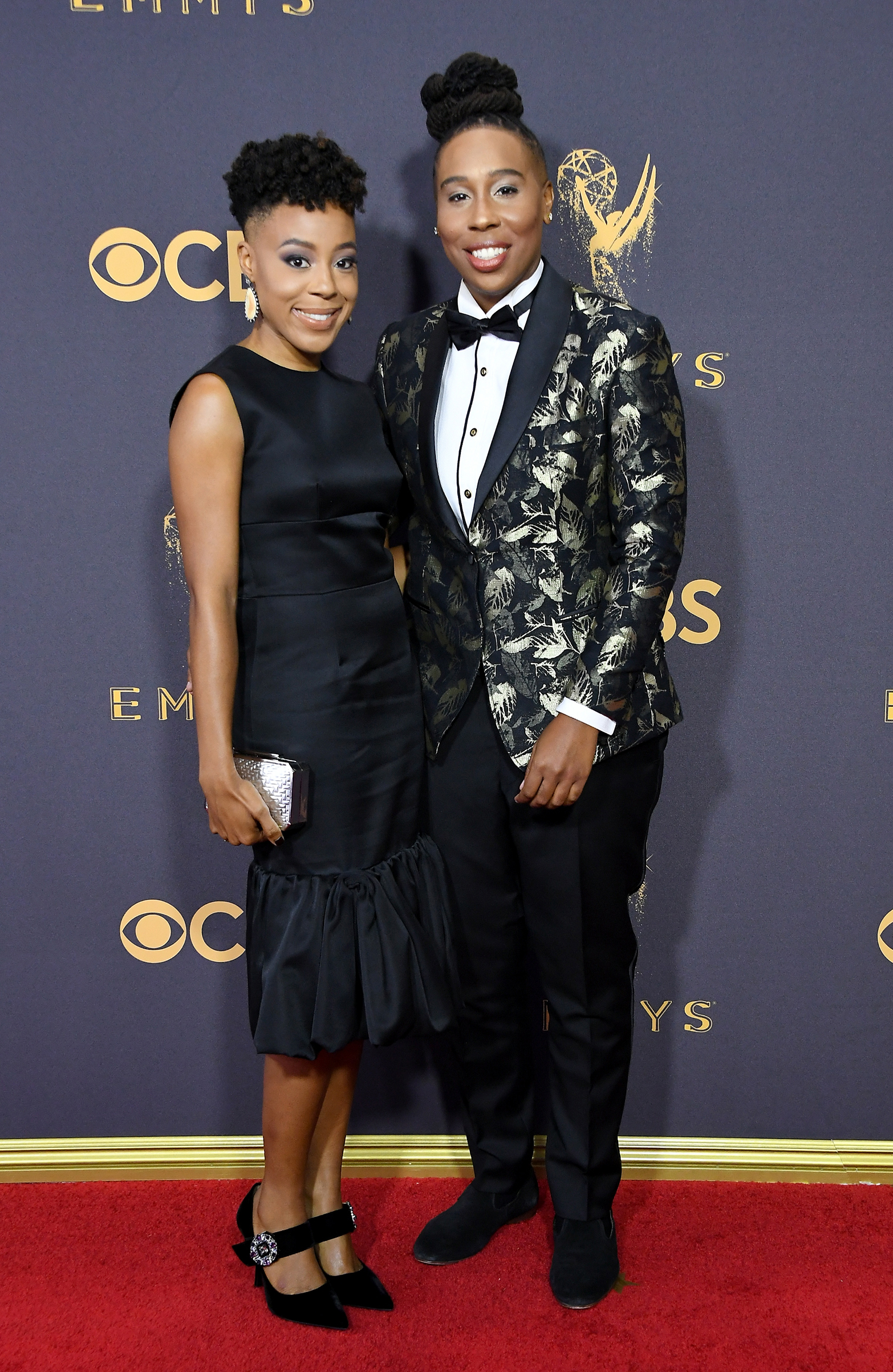 Alana Mayo (L) and Lena Waithe attend the 69th Annual Primetime Emmy Awards at Microsoft Theater on September 17, 2017 in Los Angeles, California.