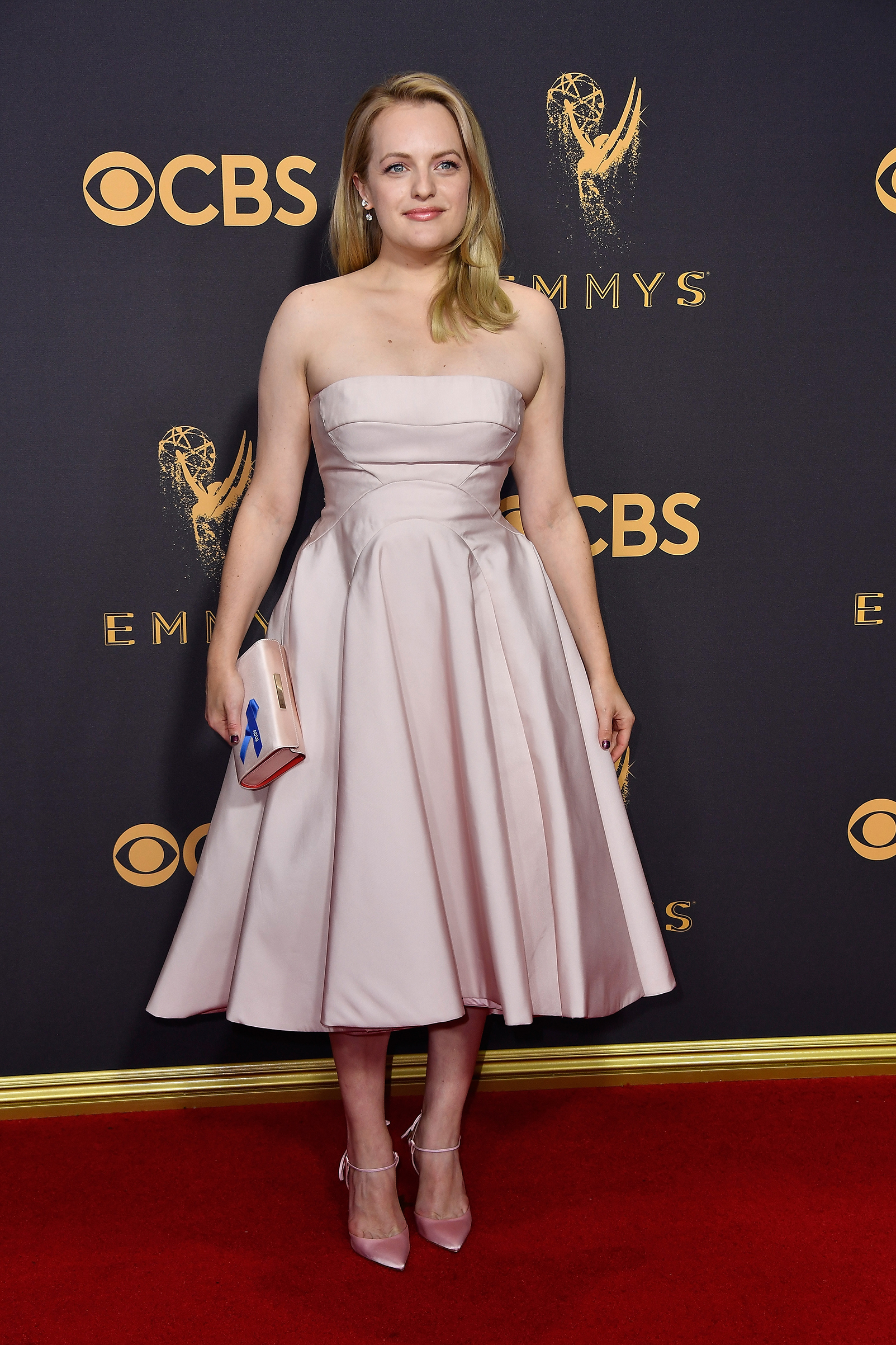Actor Elisabeth Moss attends the 69th Annual Primetime Emmy Awards at Microsoft Theater on September 17, 2017 in Los Angeles, California.