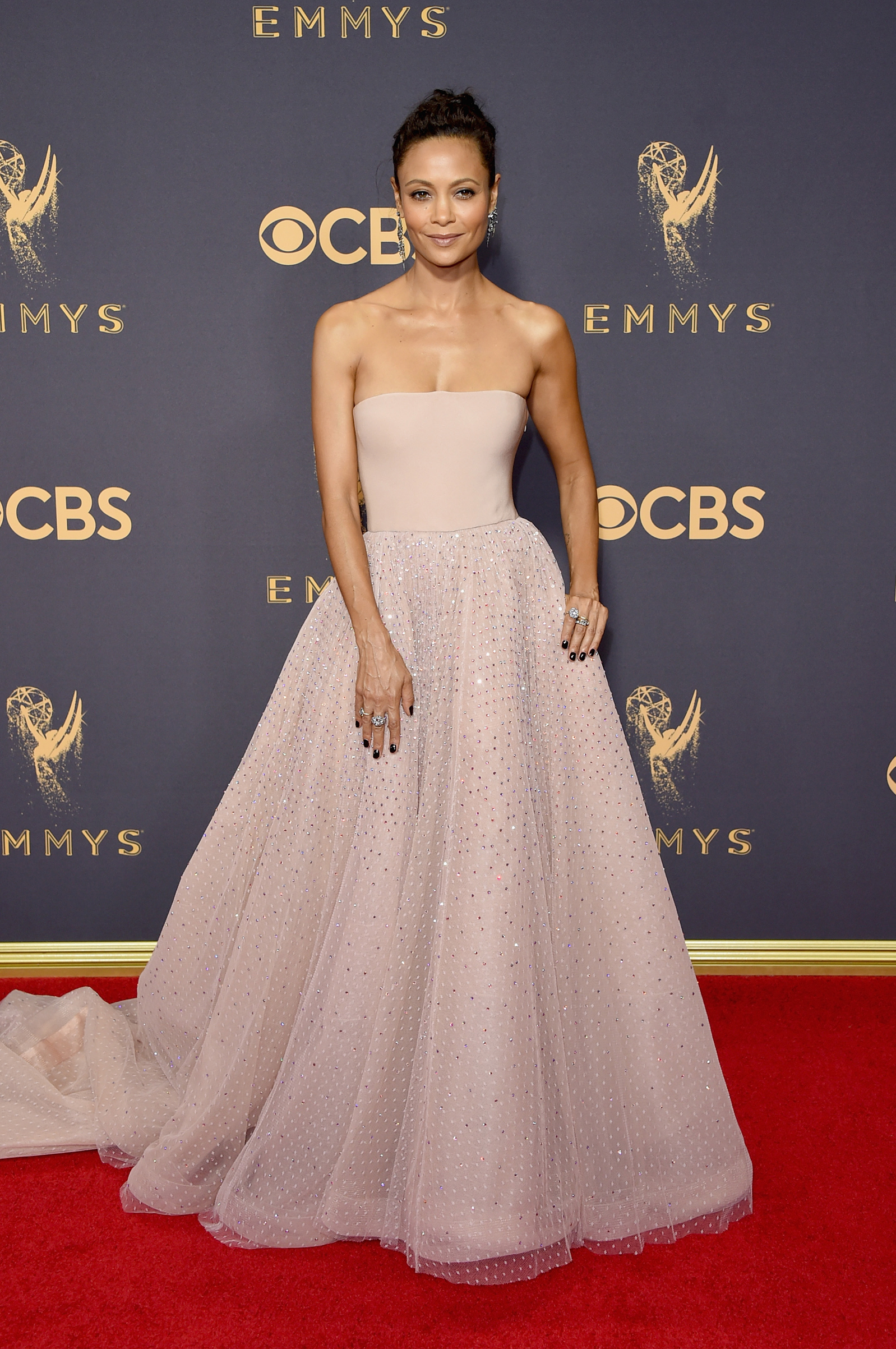 Actor Zoe Saldana attends the 69th Annual Primetime Emmy Awards at Microsoft Theater on September 17, 2017 in Los Angeles, California.