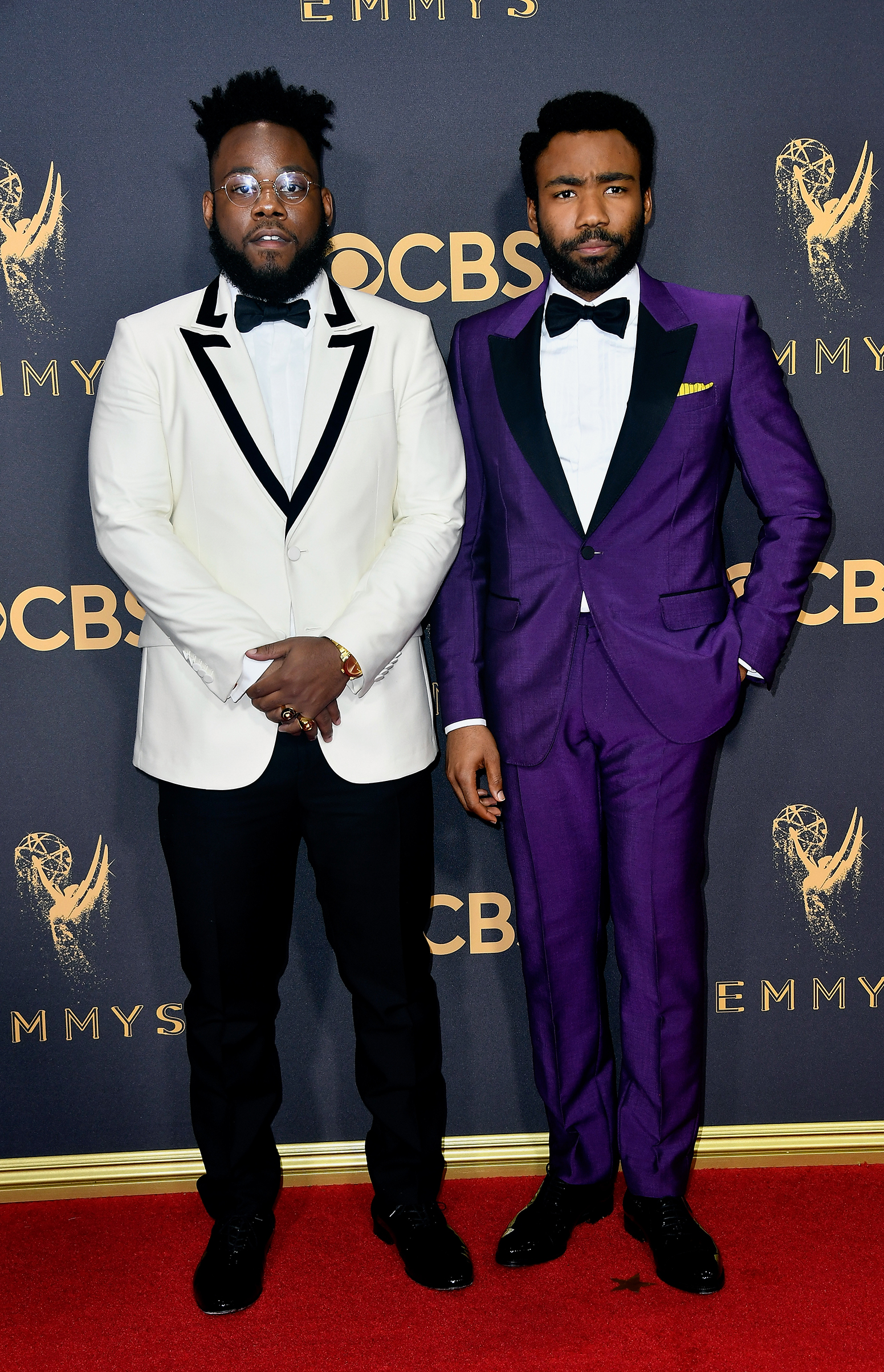 Writer Stephen Glover (L) and actor Donald Glover attend the 69th Annual Primetime Emmy Awards at Microsoft Theater on September 17, 2017 in Los Angeles, California.