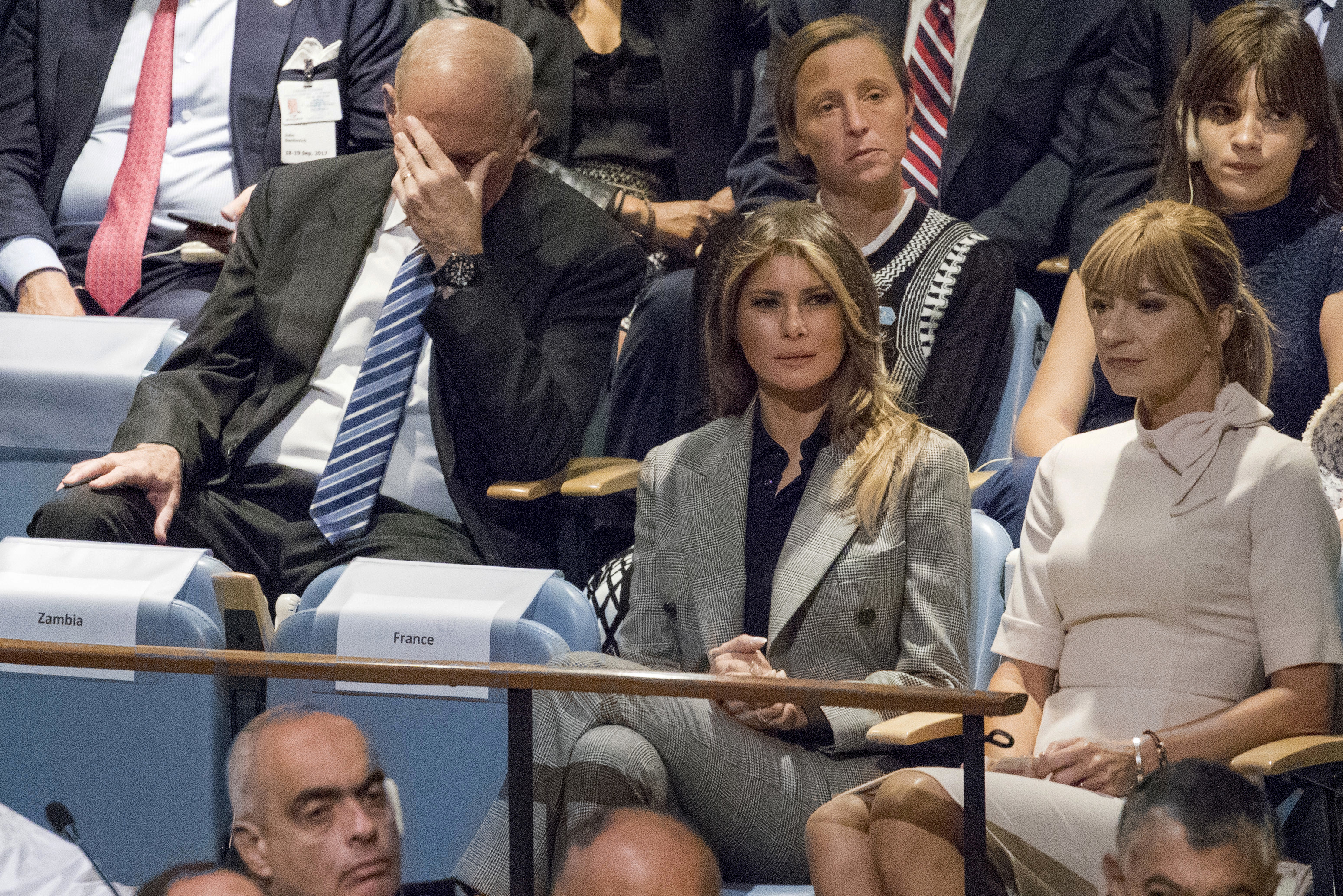 White House Chief of Staff John Kelly during President Donald Trump's speech at the 72nd session of the United Nations General Assembly at U.N. headquarters, Sept. 19, 2017.