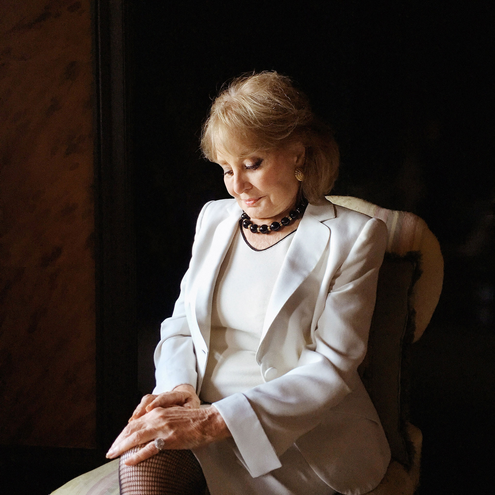 Portrait of Barbara Walters, photographed at her home in New York City's Upper East Side, September 14, 2016.