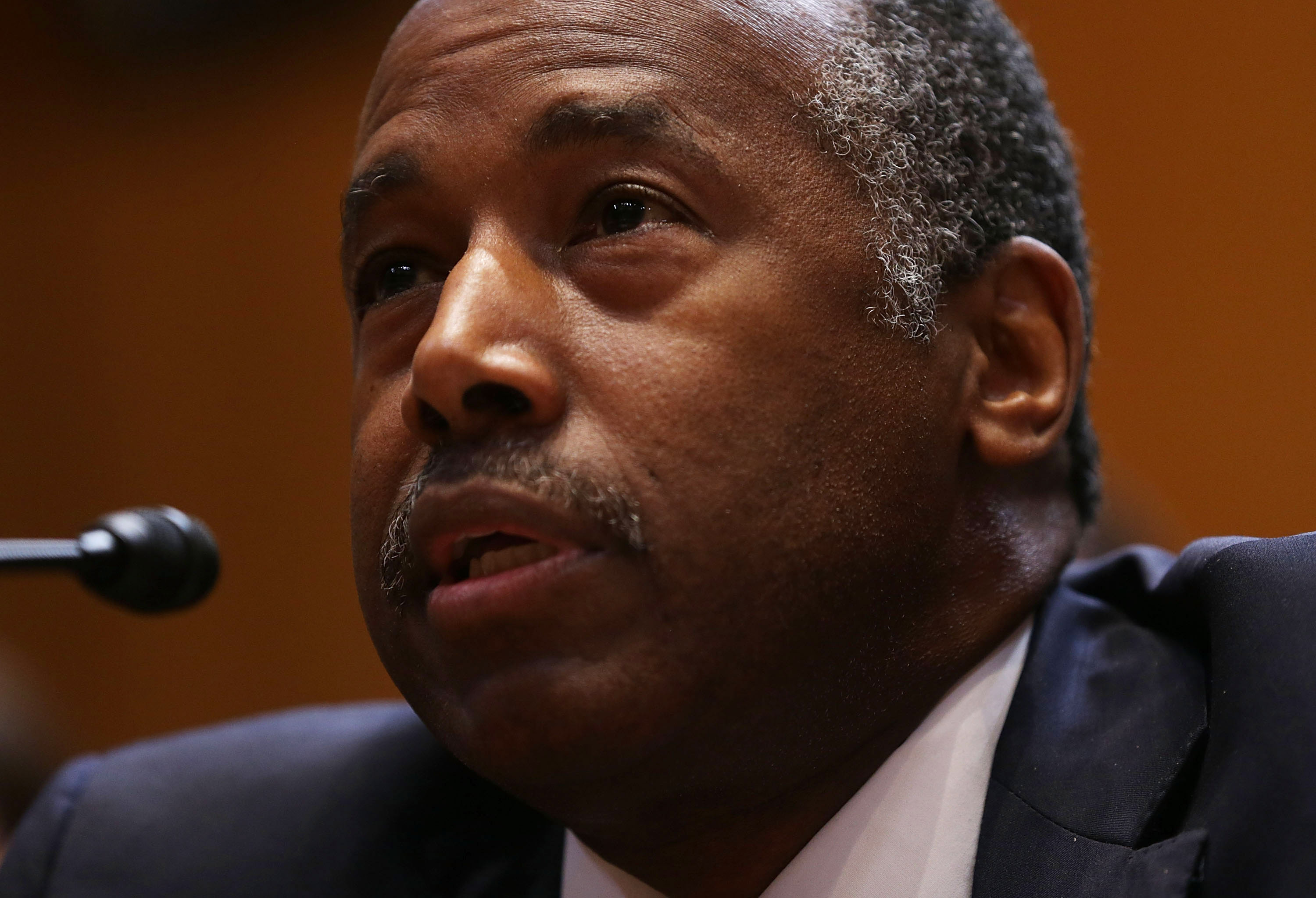 Housing and Urban Development Secretary Ben Carson testifies during a hearing before the Transportation, Housing and Urban Development, and Related Agencies Subcommittee of the Senate Appropriations Committee June 7, 2017 on Capitol Hill in Washington, DC.
