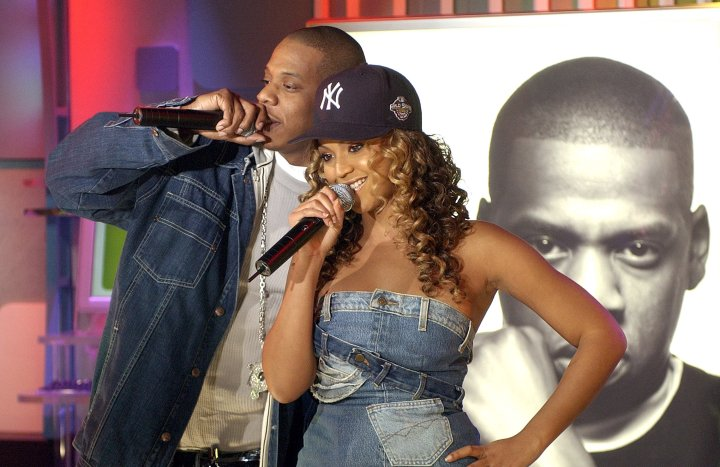 """Spankin' New Music Week"" with Jay-Z, Beyonce Knowles and Solange Knowles on MTV's ""TRL"" - November 21, 2002"