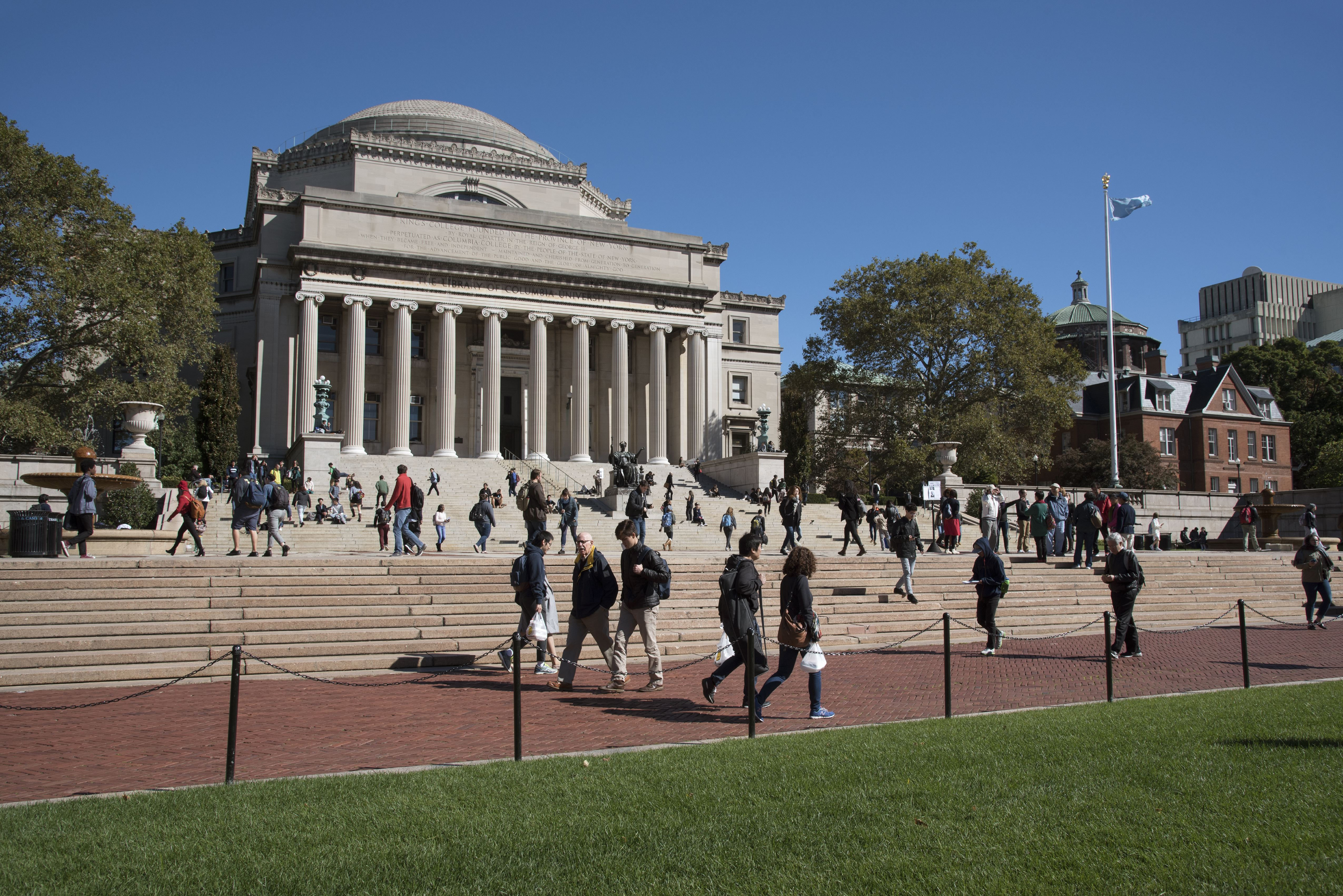 The Library of Columbia University in New York, New York.