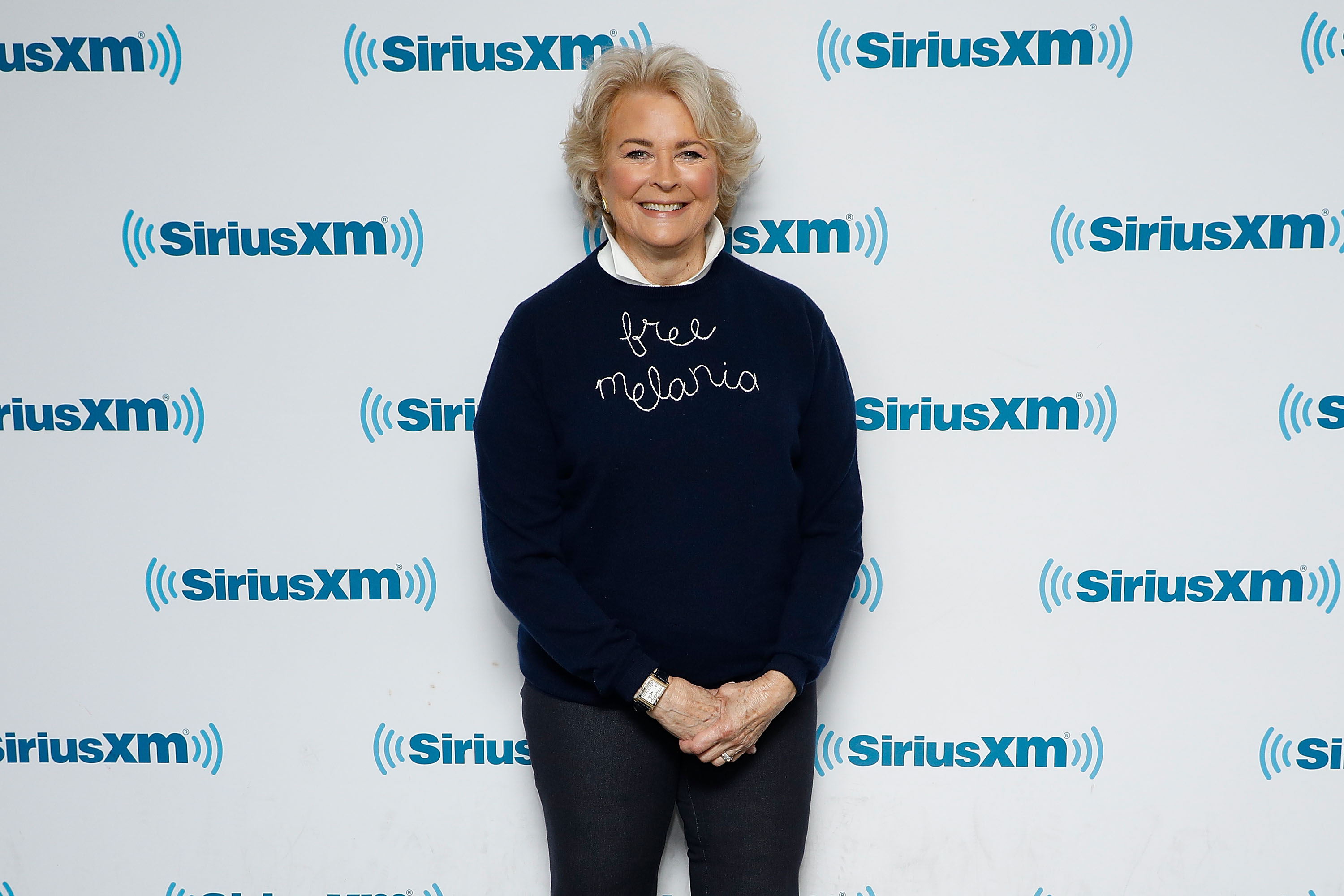 Actress Candice Bergen visits the SiriusXM Studios on September 6, 2017 in New York City.
