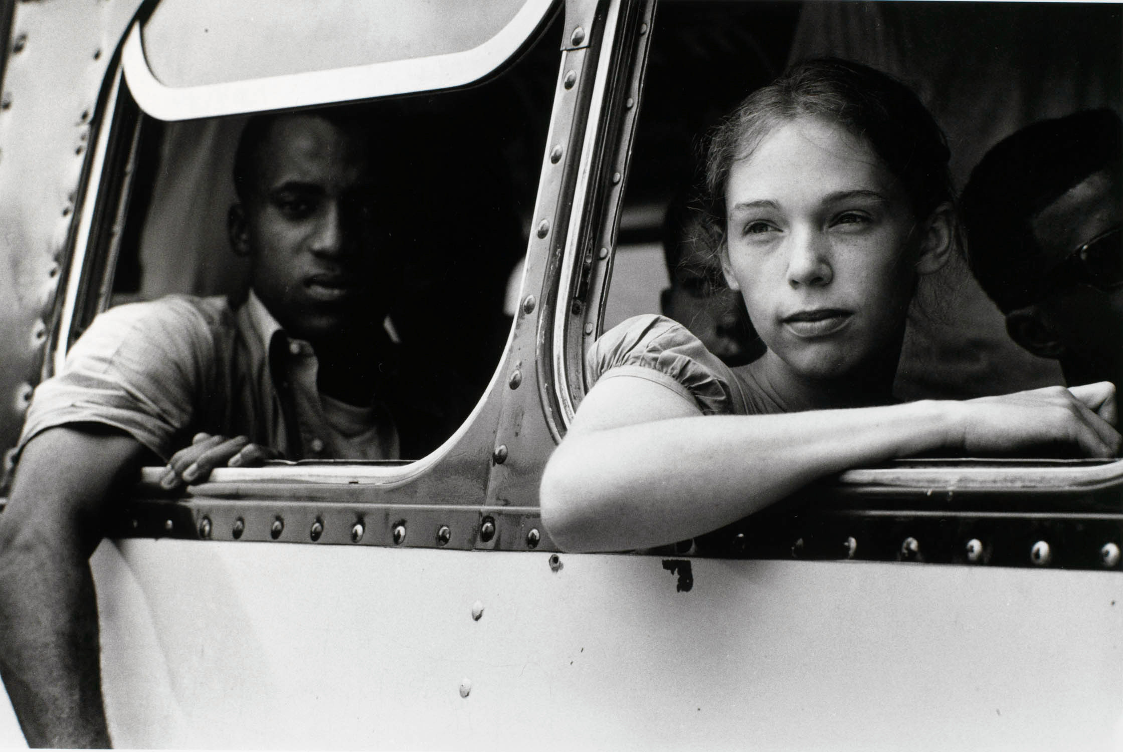 Steve Schapiro (American, born 1936), Freedom Bus Riders, Summer of '64, Oxford, Ohio,1964, gelatin silver print. High Museum of Art, Atlanta, purchase with funds from the H. B. and Doris Massey Charitable Trust, 2007.217.