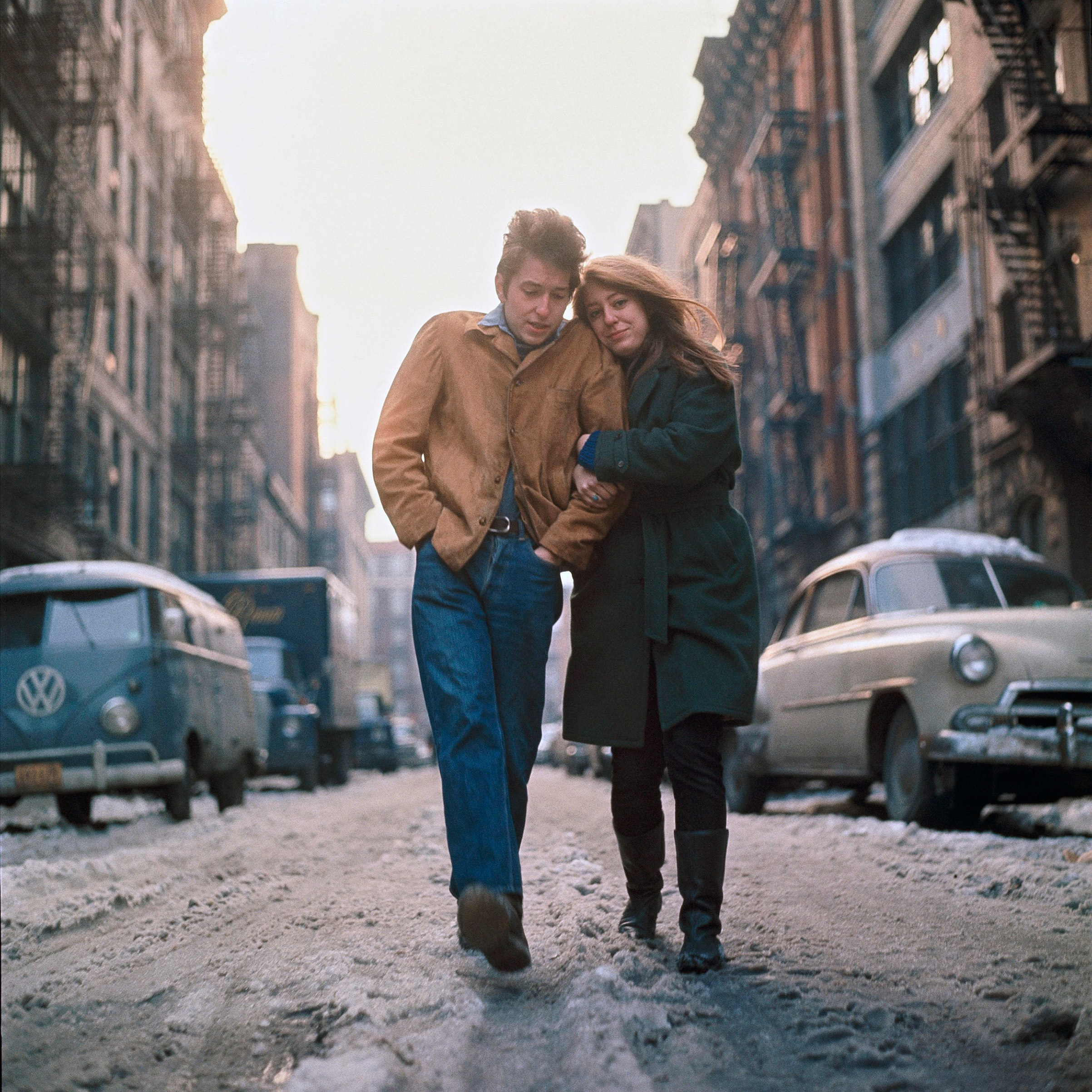 Bob Dylan and Suze Rotolo, 1963. This photo was used as the album cover for 'Freewheelin' with Bob Dylan.'