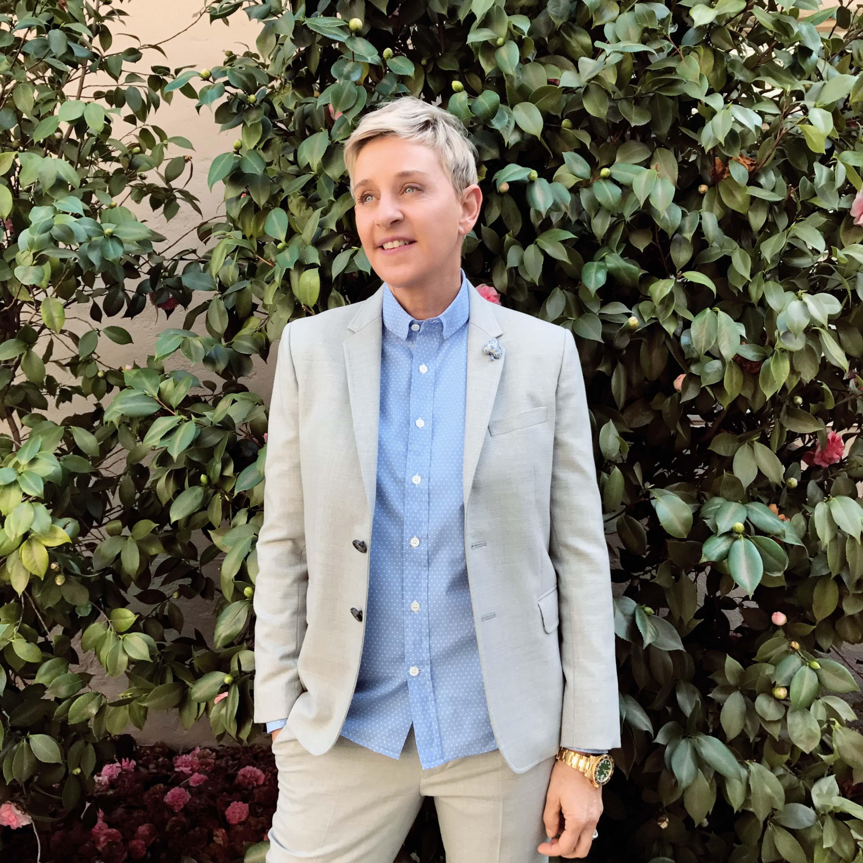 Portrait of Ellen DeGeneres, photographed at Warner Bros Studios, CA, on February 9, 2017.