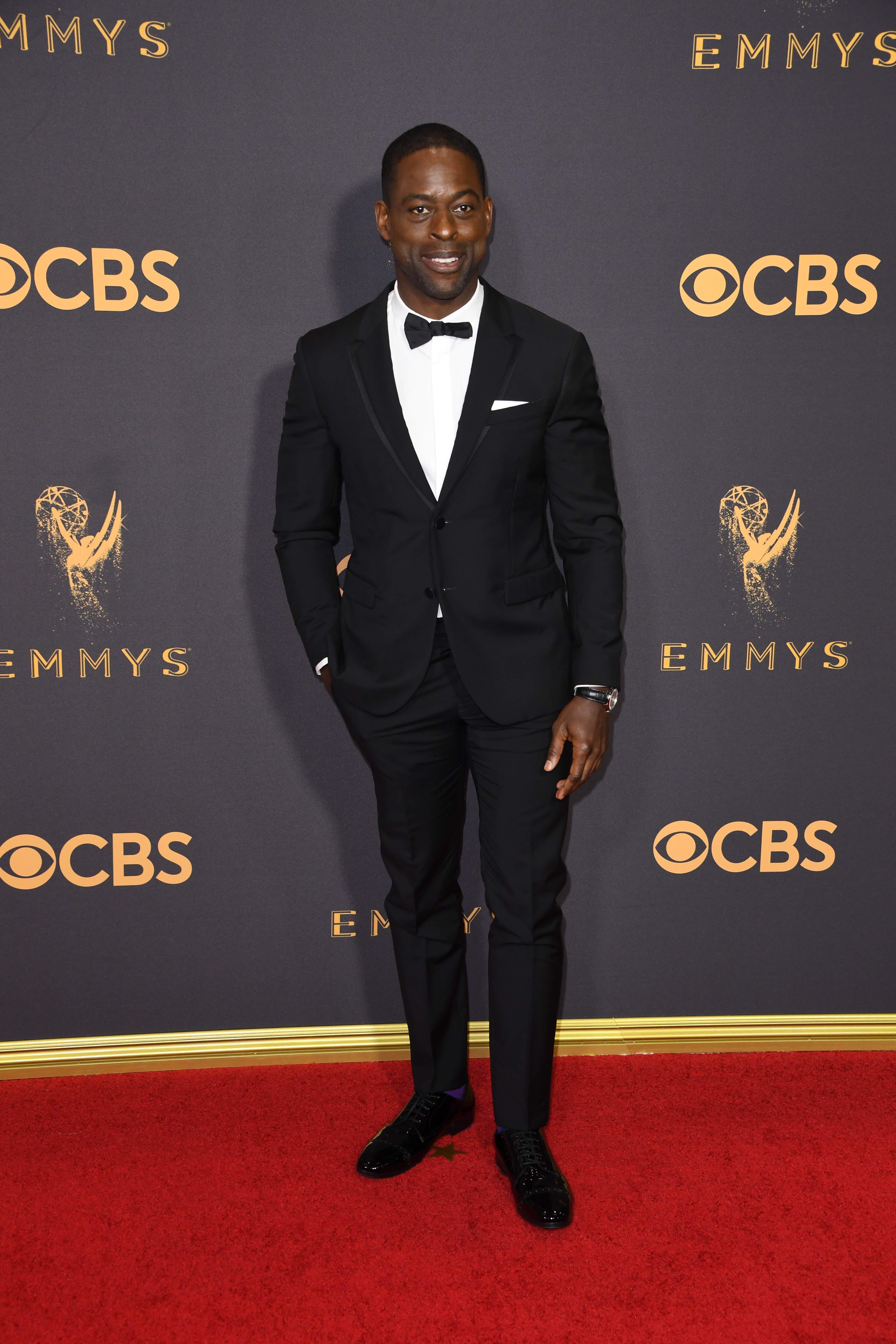 Sterling K. Brown arrives for the 69th Emmy Awards at the Microsoft Theatre on Sept.17, 2017 in Los Angeles.