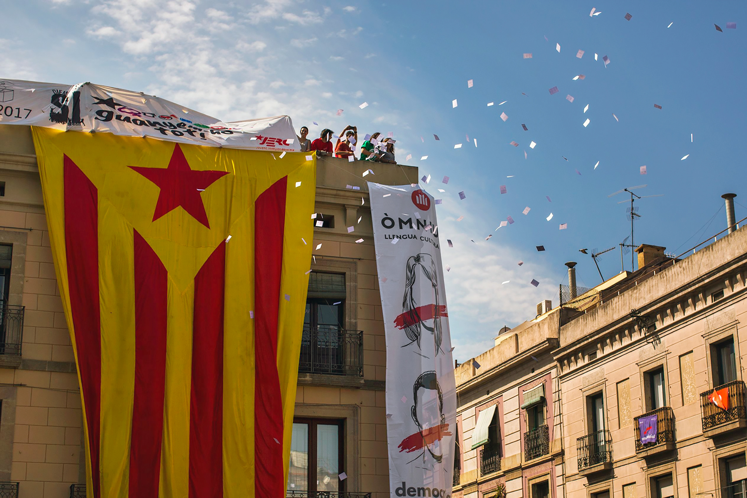 Catalans are determined to vote in an independence referendum on Oct.1 in defiance of the Spanish government