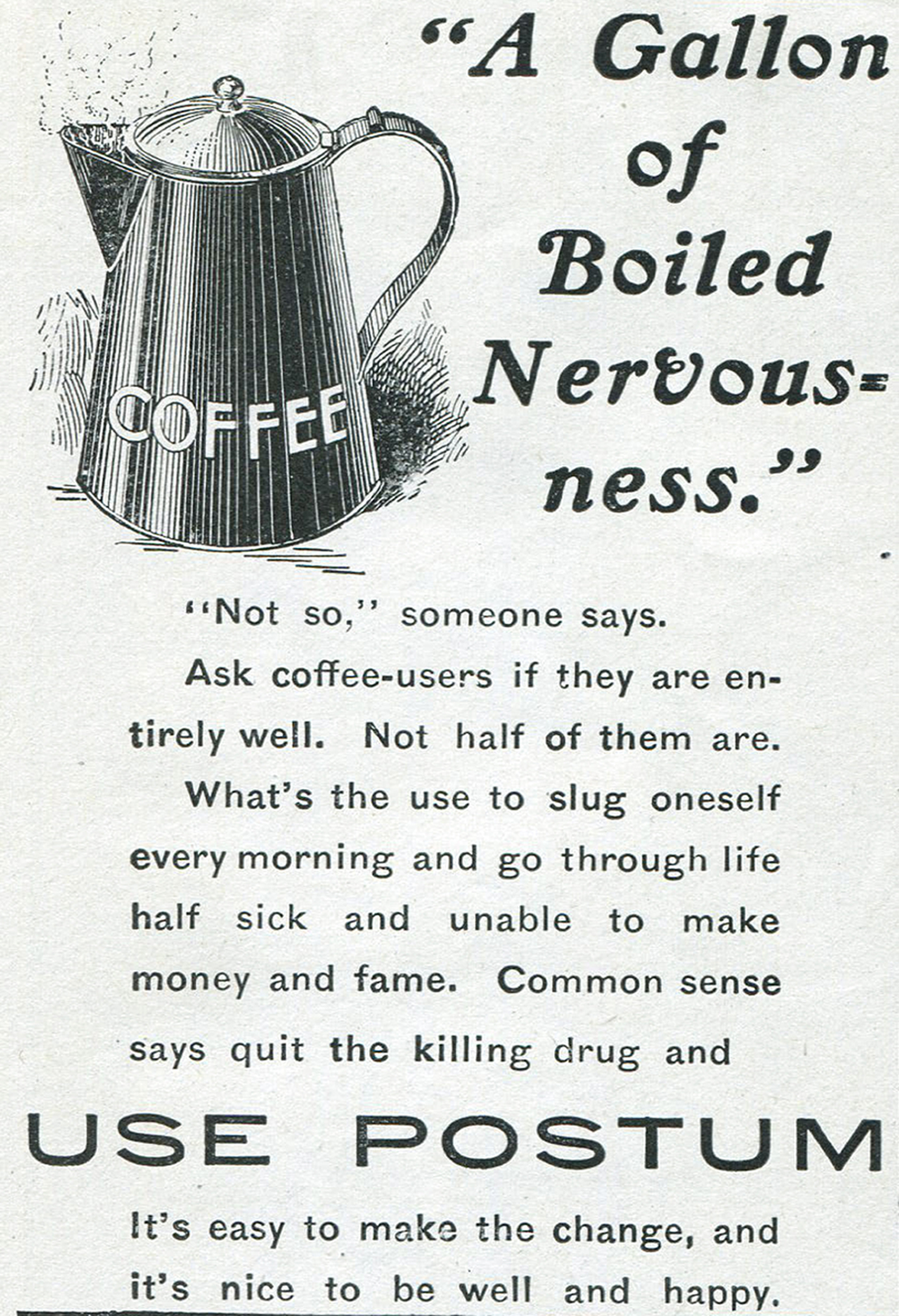 A 1902 advertisement for Postum.