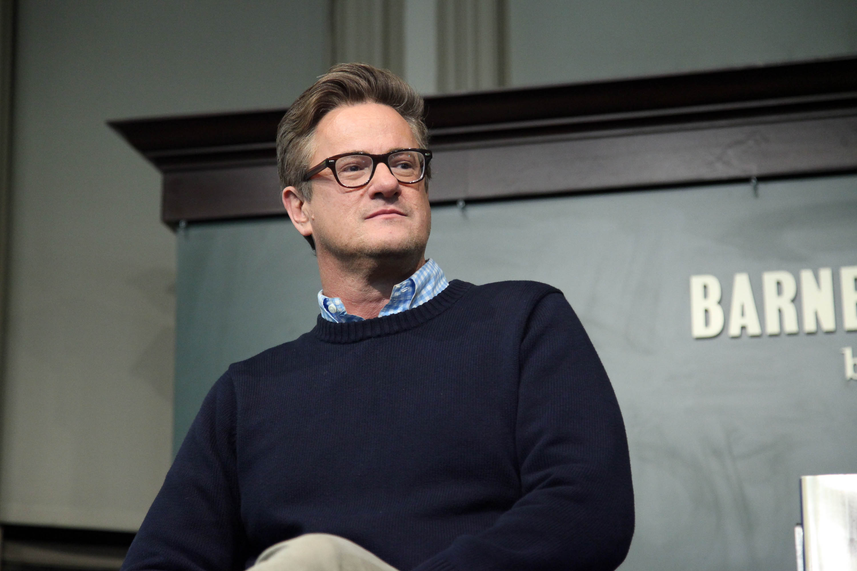 Joe Scarborough attends the  The Right Path: From Ike To Reagan, How Republicans Once Mastered Politics - And Can Again  book event on November 12, 2013 in New York, United States.