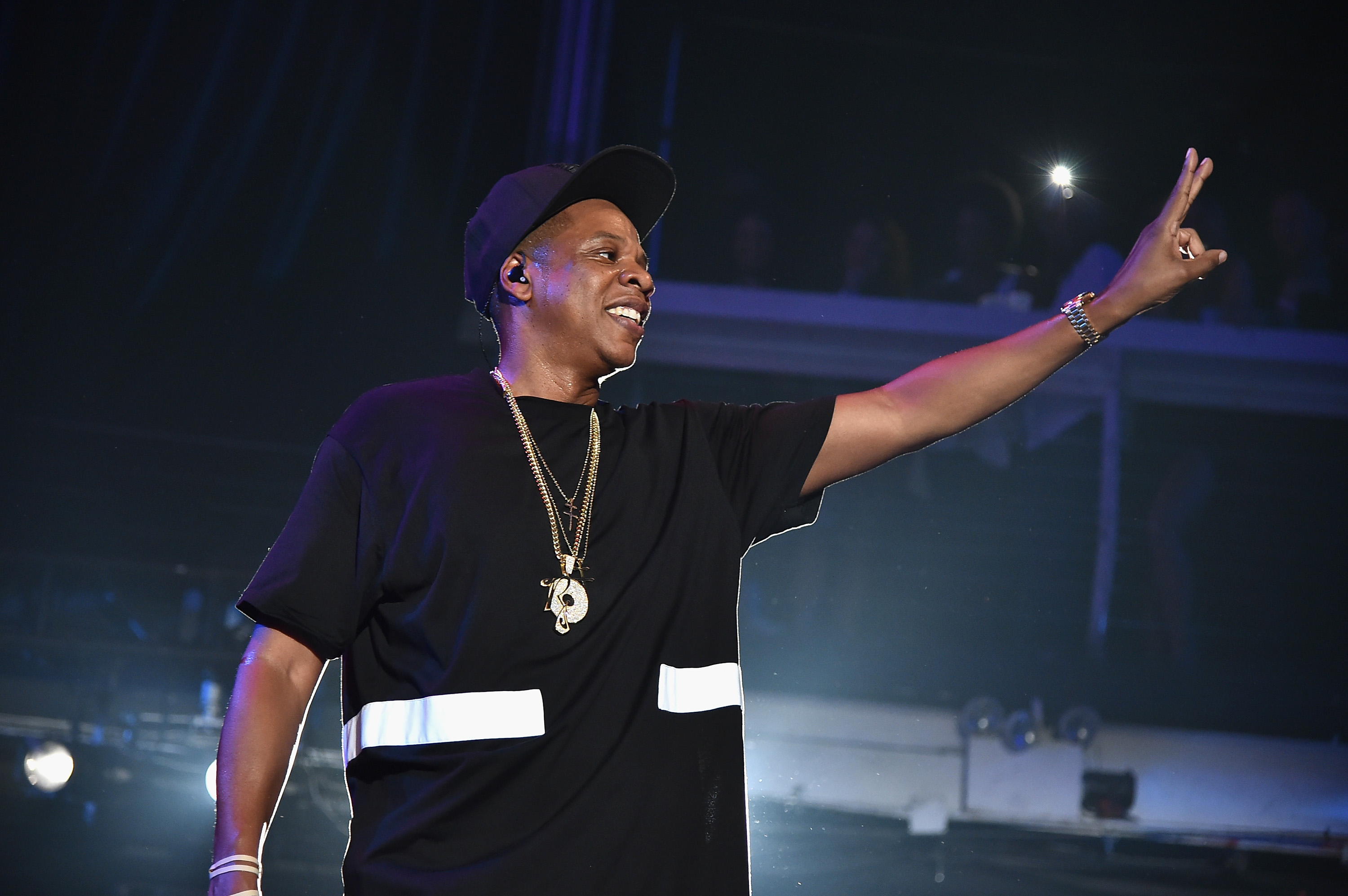 Jay-Z performs during TIDAL X: Jay-Z B-sides in NYC on May 17, 2015.