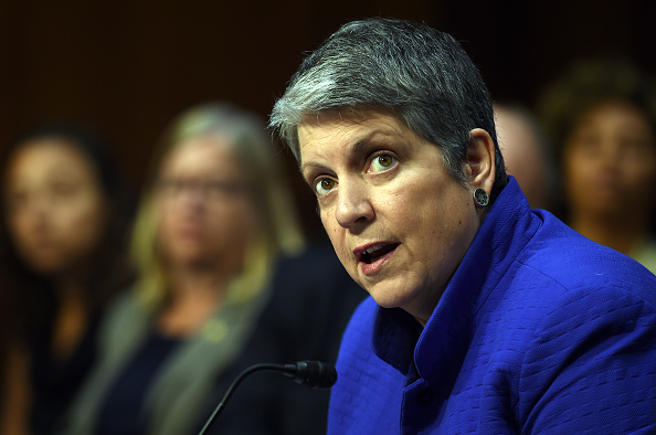 Janet Napolitano, president of the University of California, speaks during a hearing of the Senate Health, Education, Labor, and Pensions Committee on July 29, 2015 in Washington, DC.