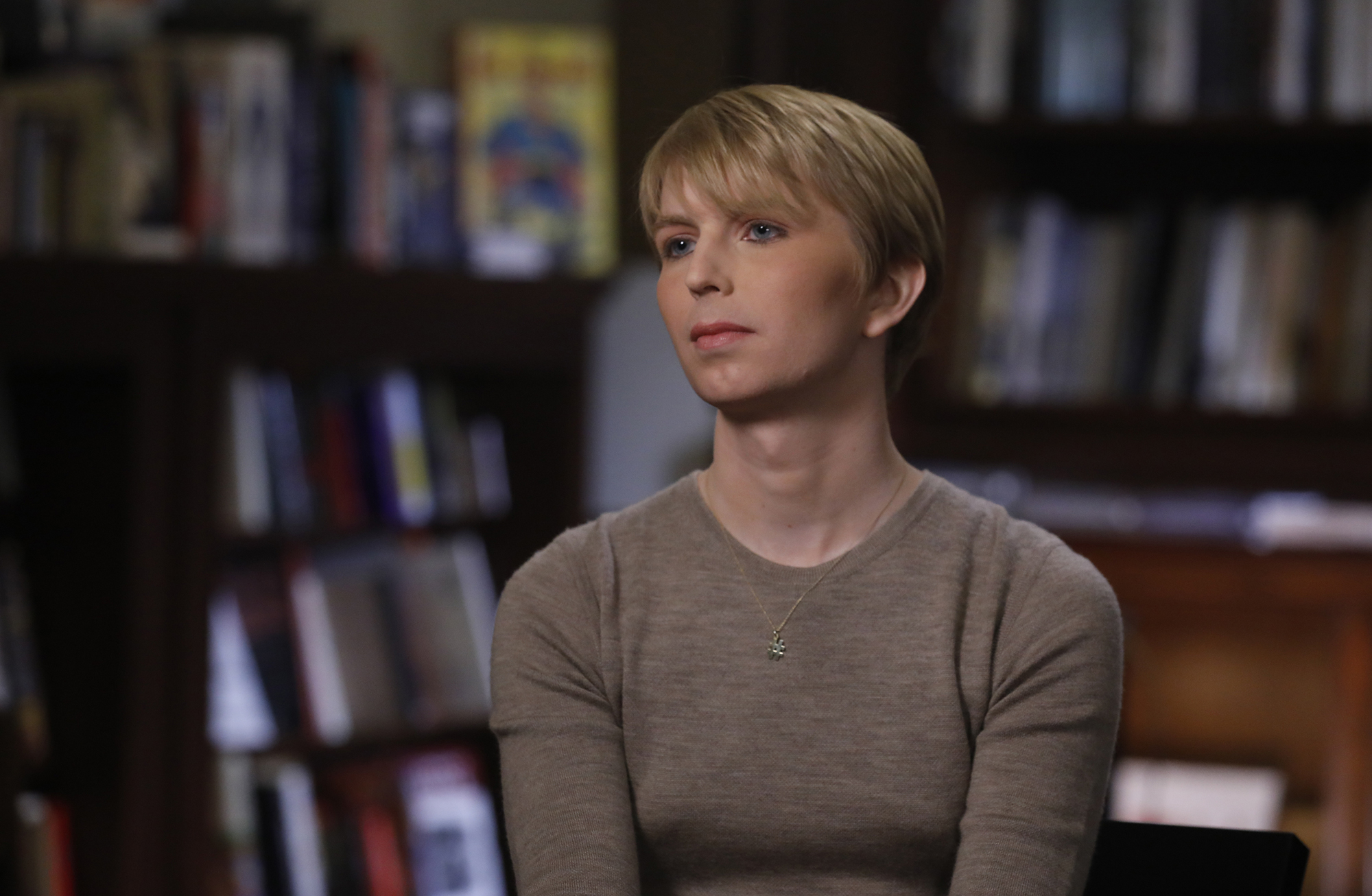 This photo dated June 8, 2017 shows Chelsea Manning sitting for an interview with the ABC News program 'Nightline.'