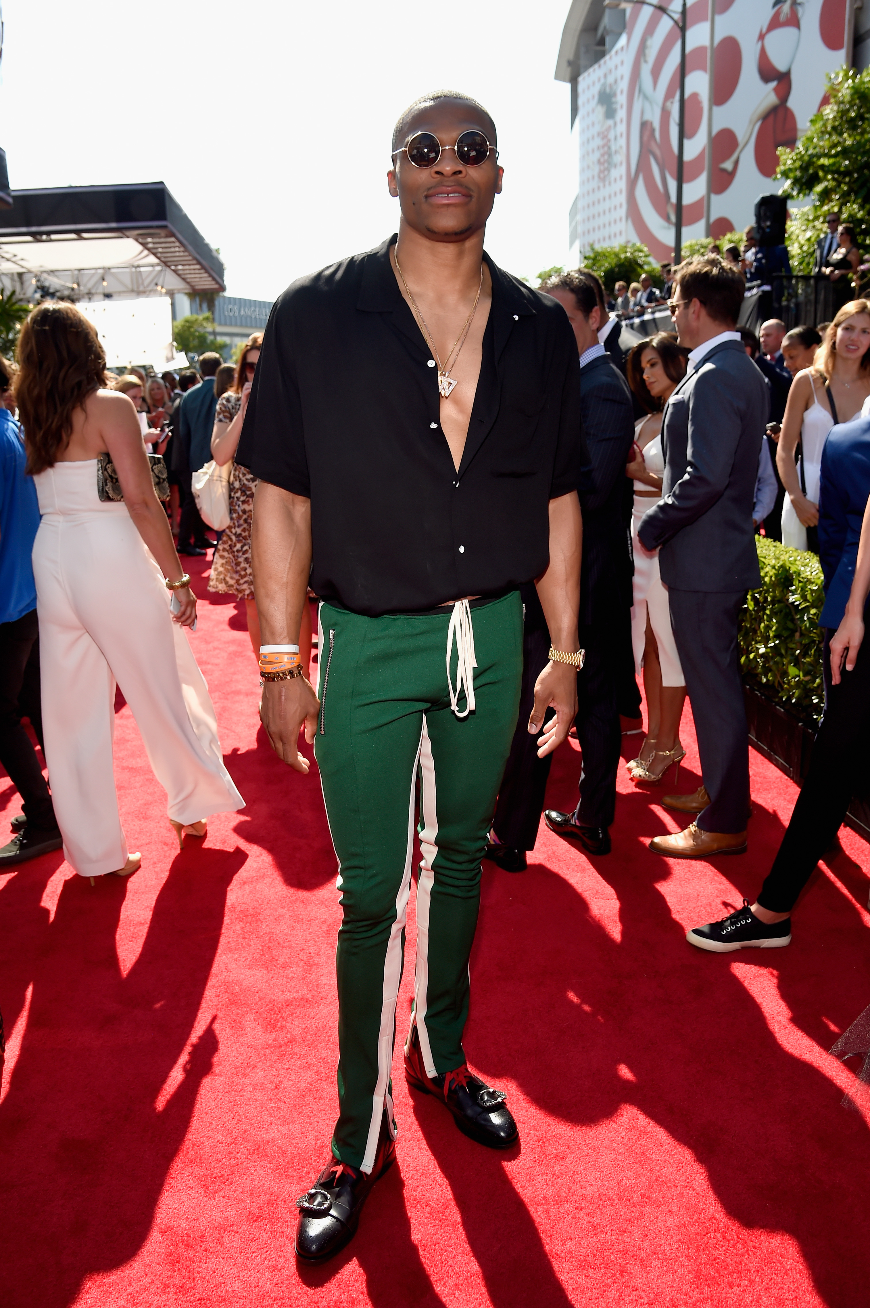 LOS ANGELES, CA - JULY 12: NBA player Russell Westbrook attends The 2017 ESPYS at [f500link]Microsoft[/f500link] Theater on July 12, 2017 in Los Angeles, California. (Photo by Kevin Mazur/Getty Images)