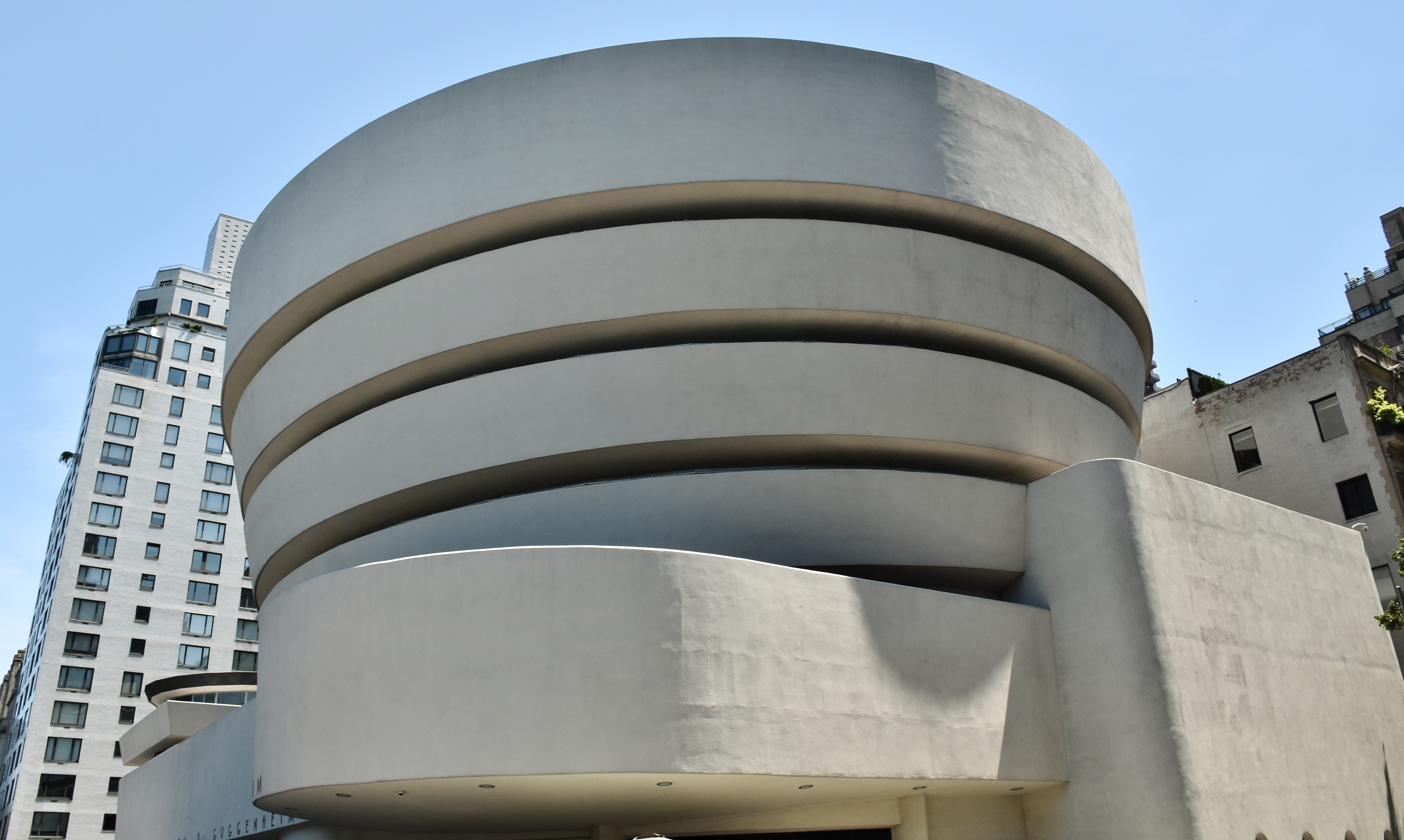 This July 1, 2017 photo shows the Solomon R. Guggenheim Museum in New York.