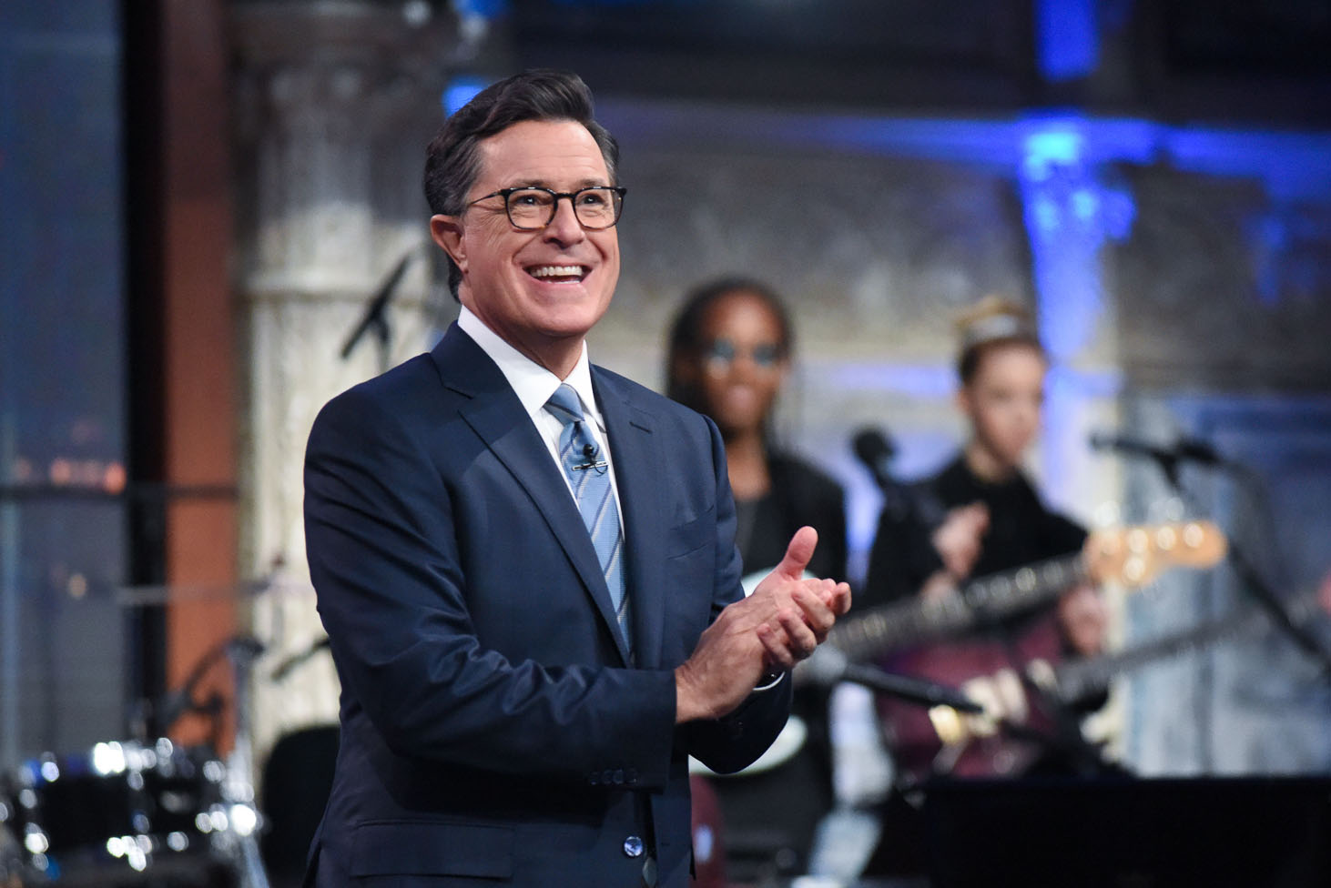 The Late Show with Stephen Colbert during Thursday's August 17, 2017 show.