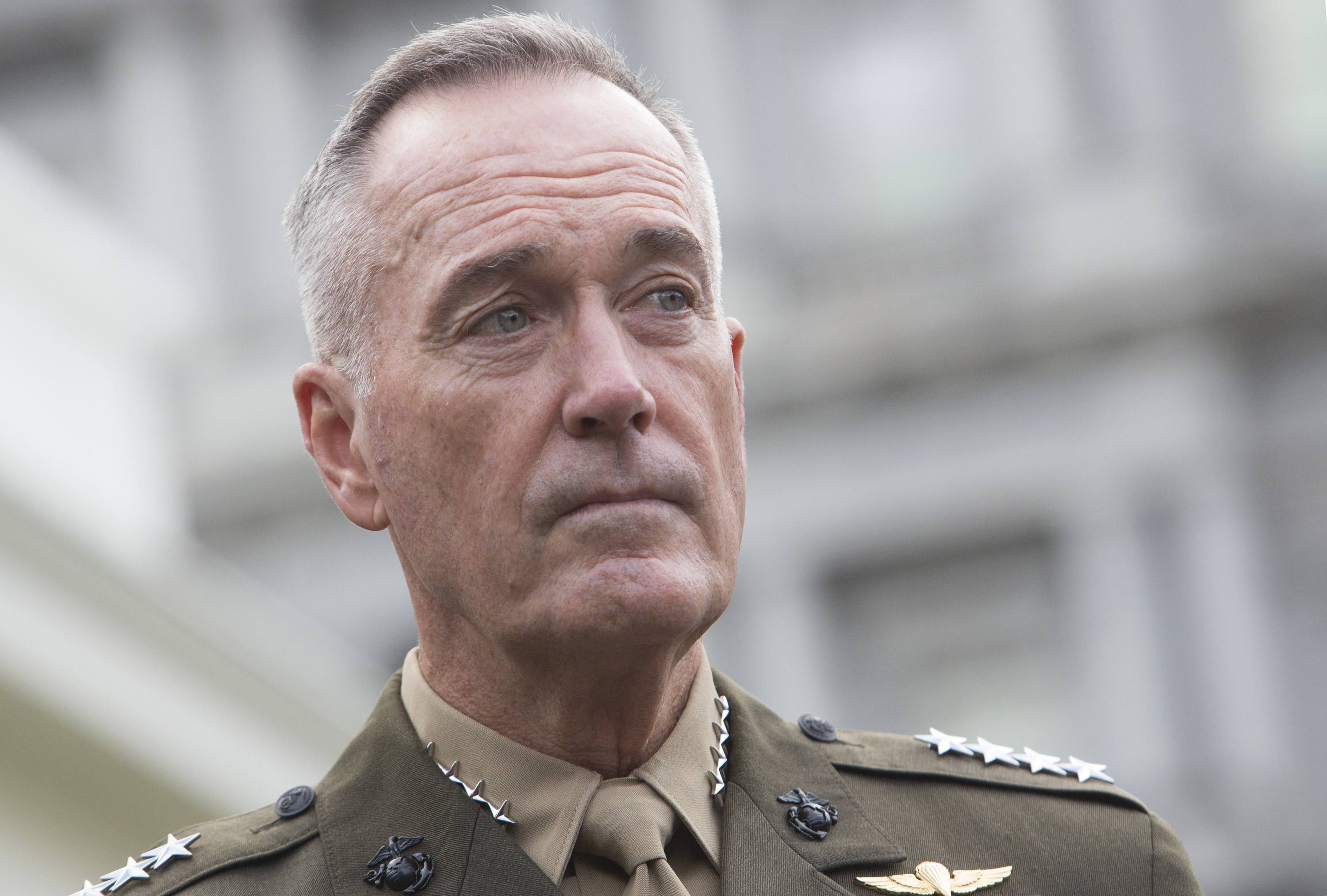 Chairman of the Joint Chiefs of Staff Joseph Dunford at the White House on Sept. 3, 2017.