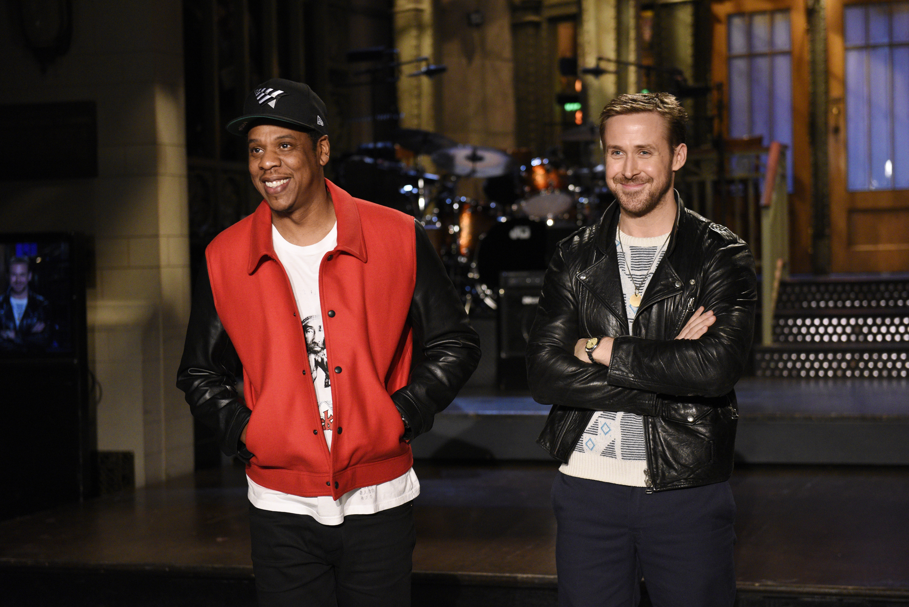 Musical Guest Jay Z with Host Ryan Gosling in Studio 8H on Thursday, September 28, 2017.