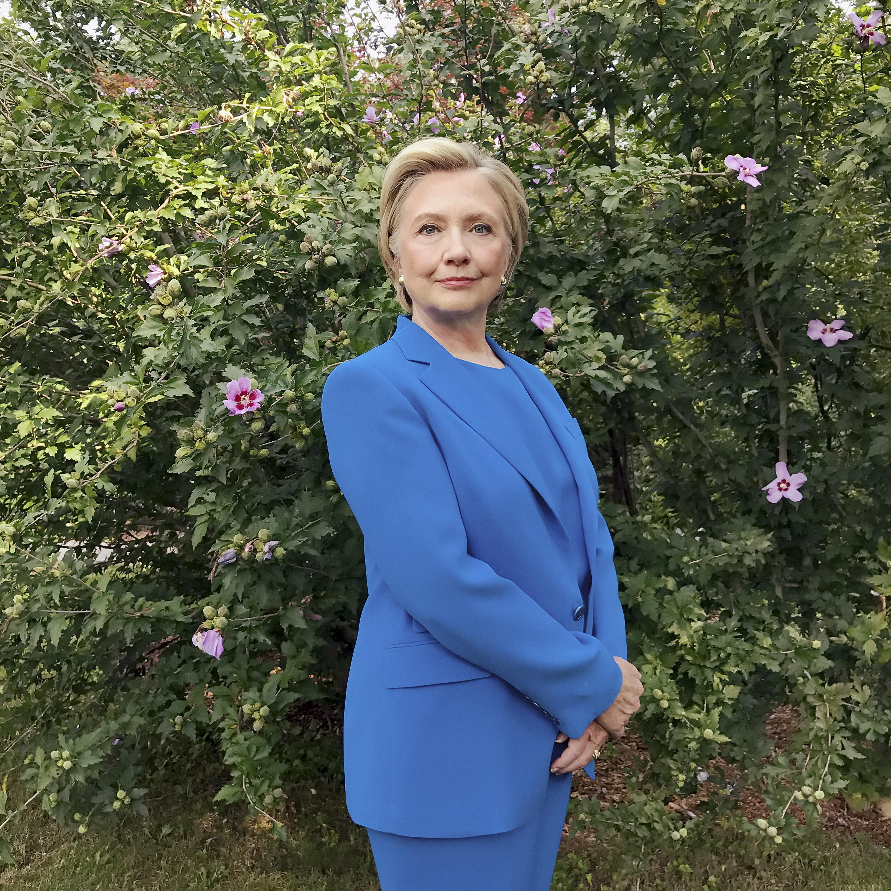 Secretary Hillary Rodham Clinton, photographed in Chappaqua, New York on Sept. 5, 2017.