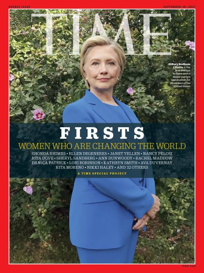 Firsts Women Who Are Changing the World Hillary Clinton Time Magazine Cover