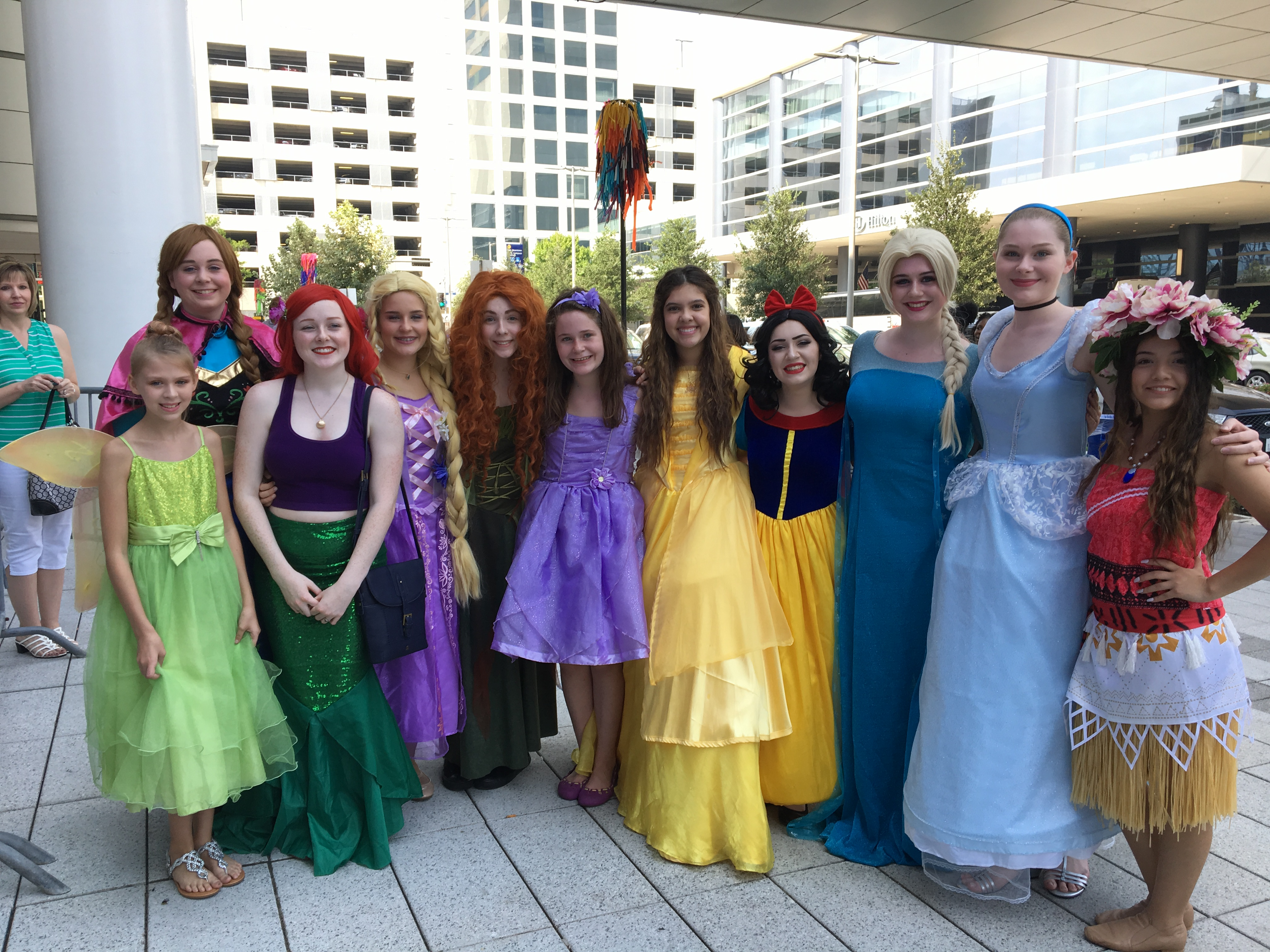 Teens with the Princess Project came to sing for kids affected by Hurricane Harvey