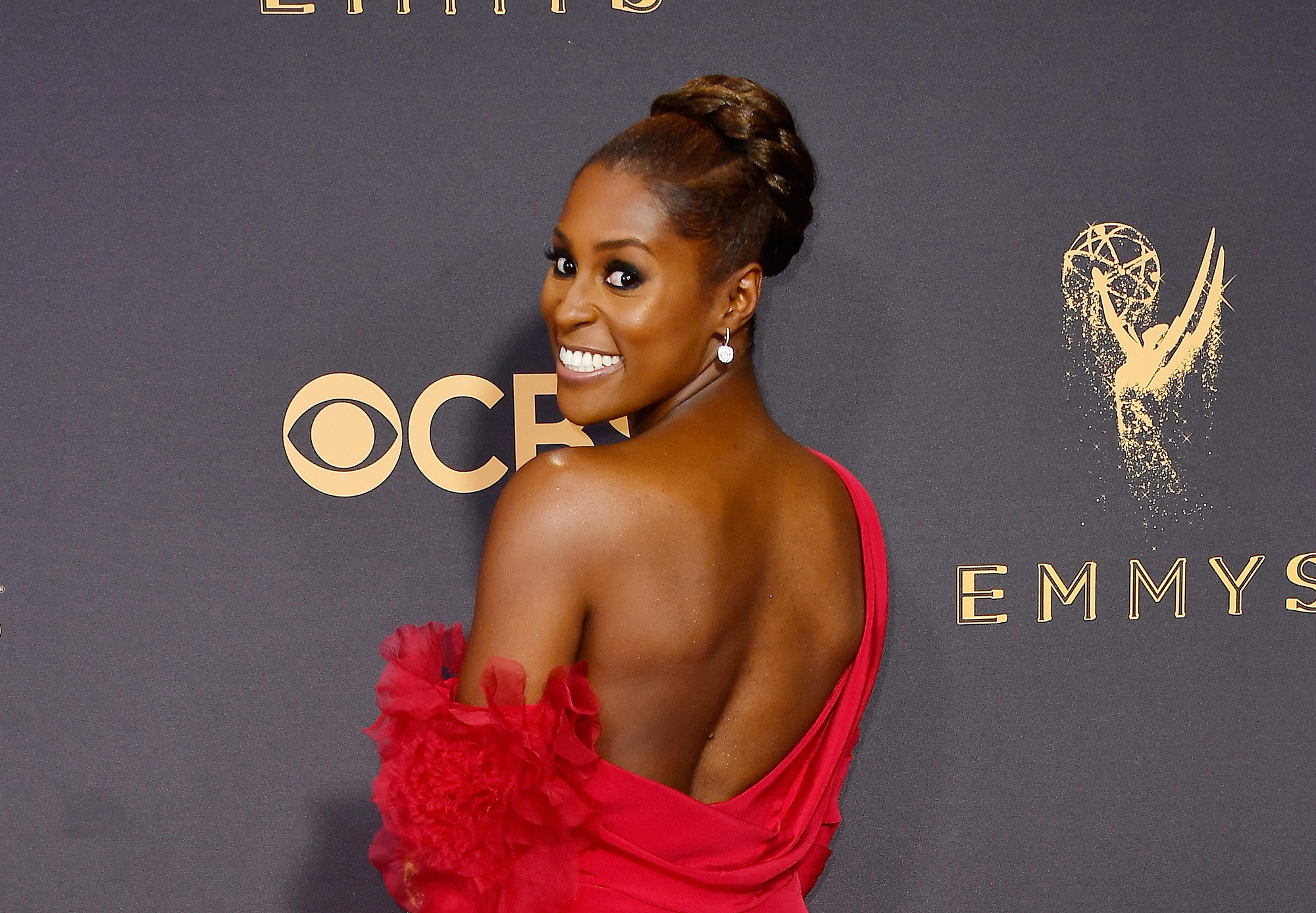 LOS ANGELES, CA - SEPTEMBER 17: Actor Issa Rae attends the 69th Annual Primetime Emmy Awards at Microsoft Theater on September 17, 2017 in Los Angeles, California.  (Photo by Frazer Harrison/Getty Images)