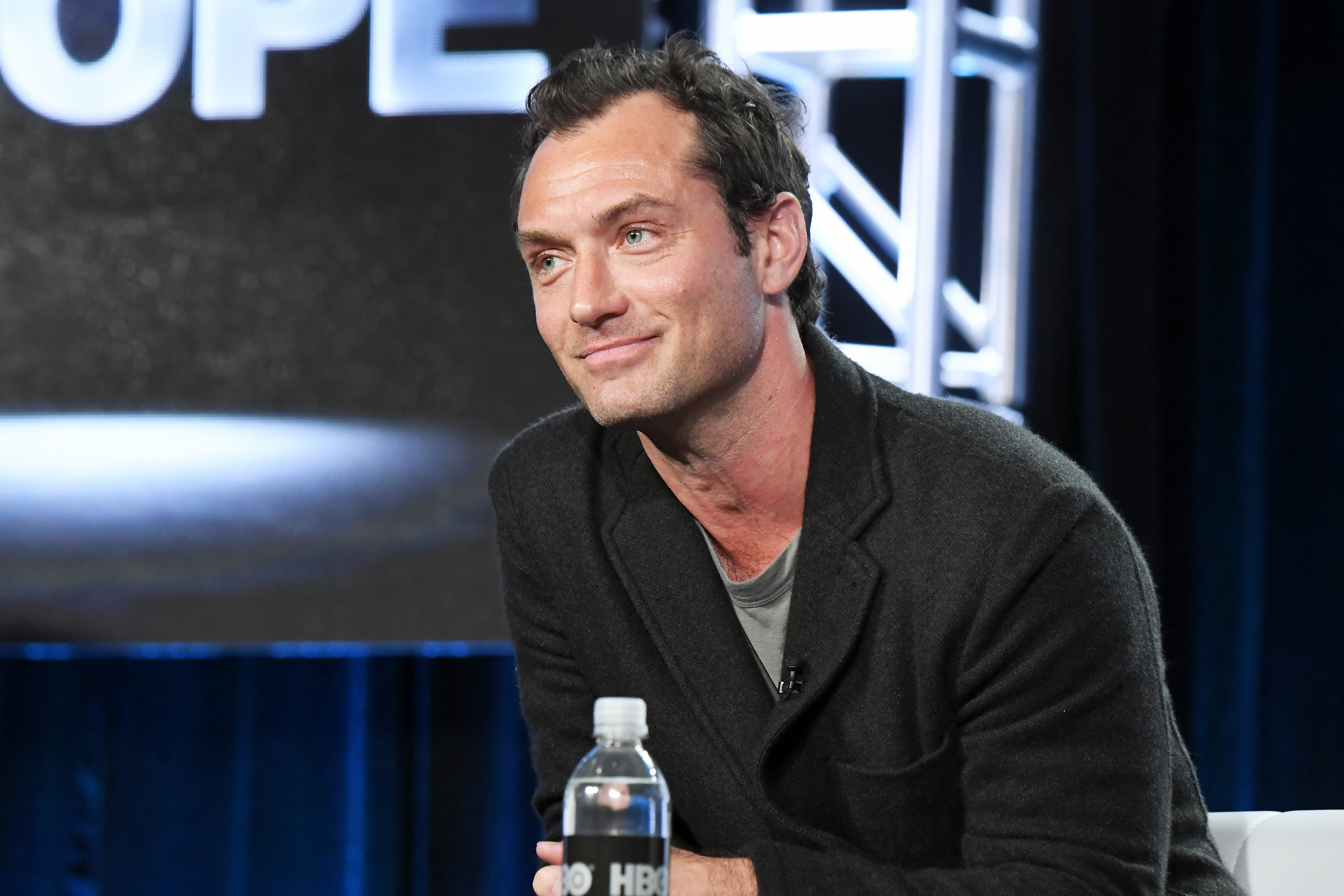Jude Law Meets Fan After Causing Security Scare Time