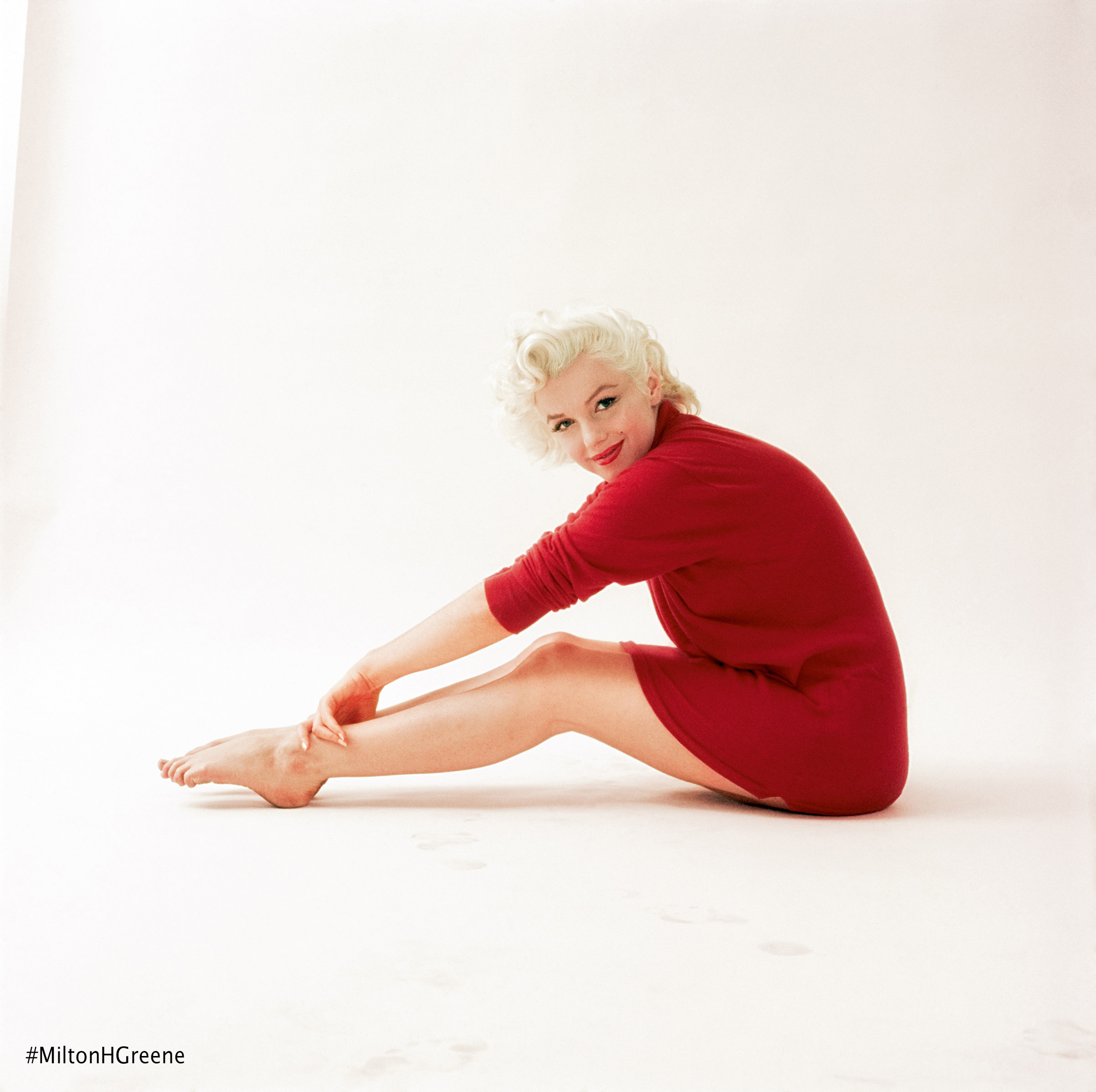 Marilyn Monroe from the July 1955 Red Sweater session. Photographed by Milton H. Greene ©2017 Joshua Greene archiveimages.com
