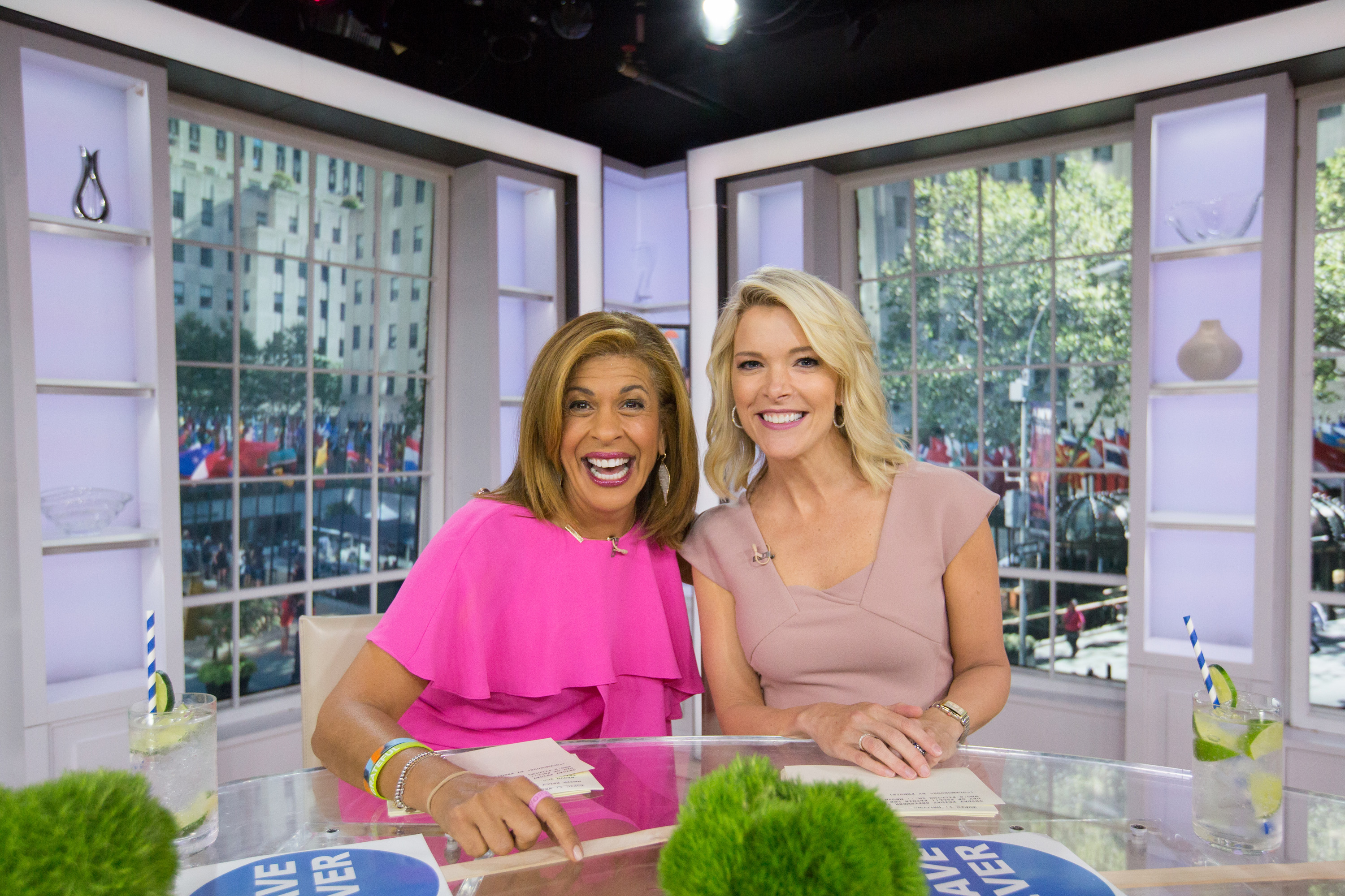 Hoda Kotb and Megyn Kelly on the Today Show on Sept. 22, 2017.