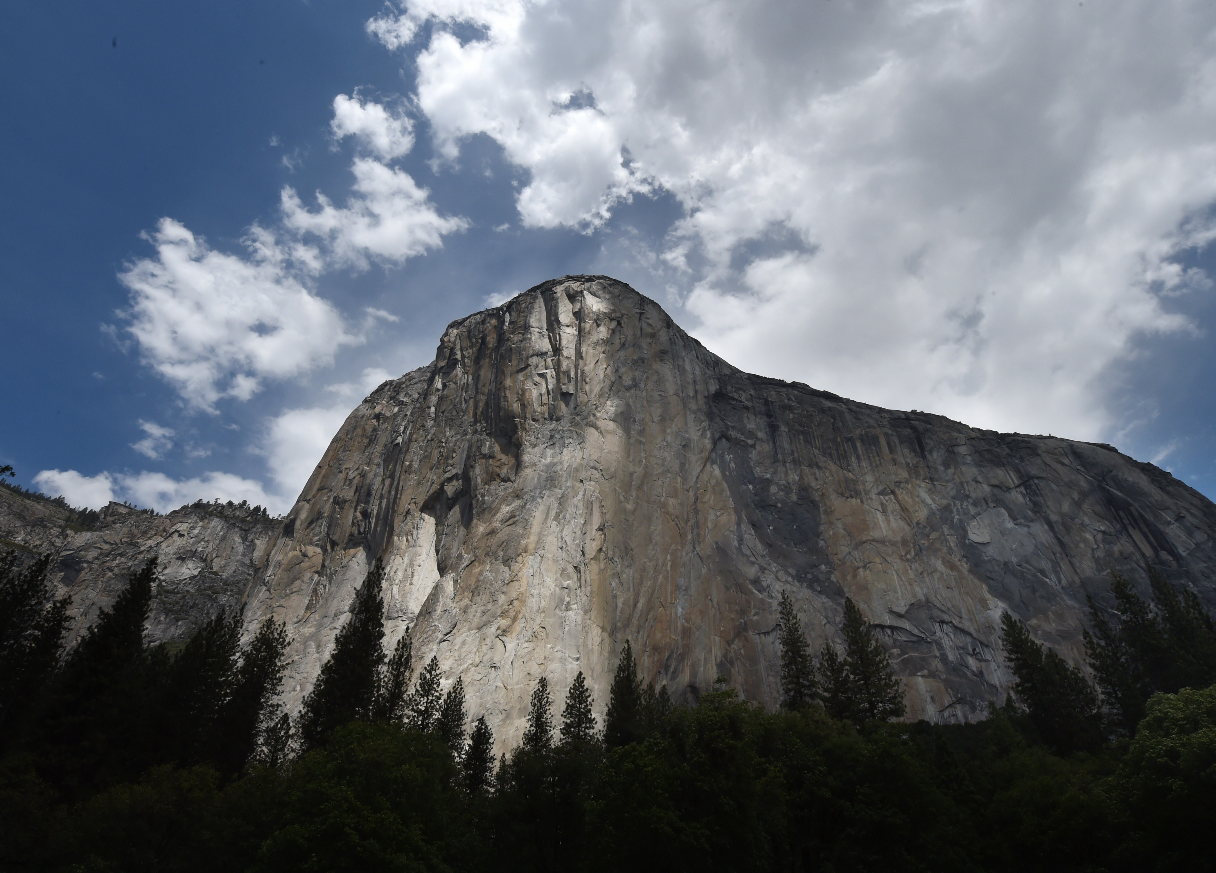The El Capitan monolith in the Yosemite National Park in California on June 4, 2015.