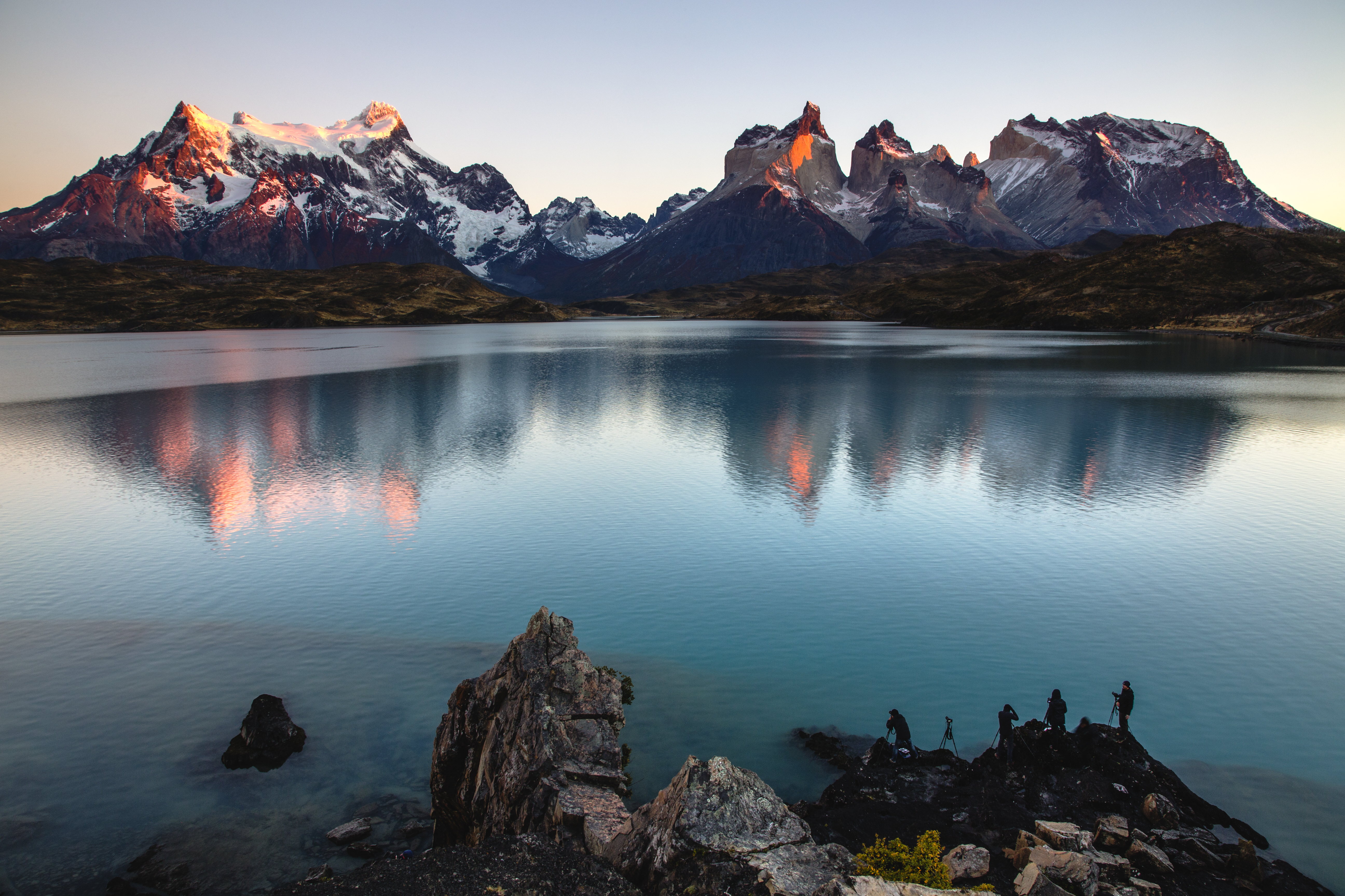 Tourists photographing Torres del Paine