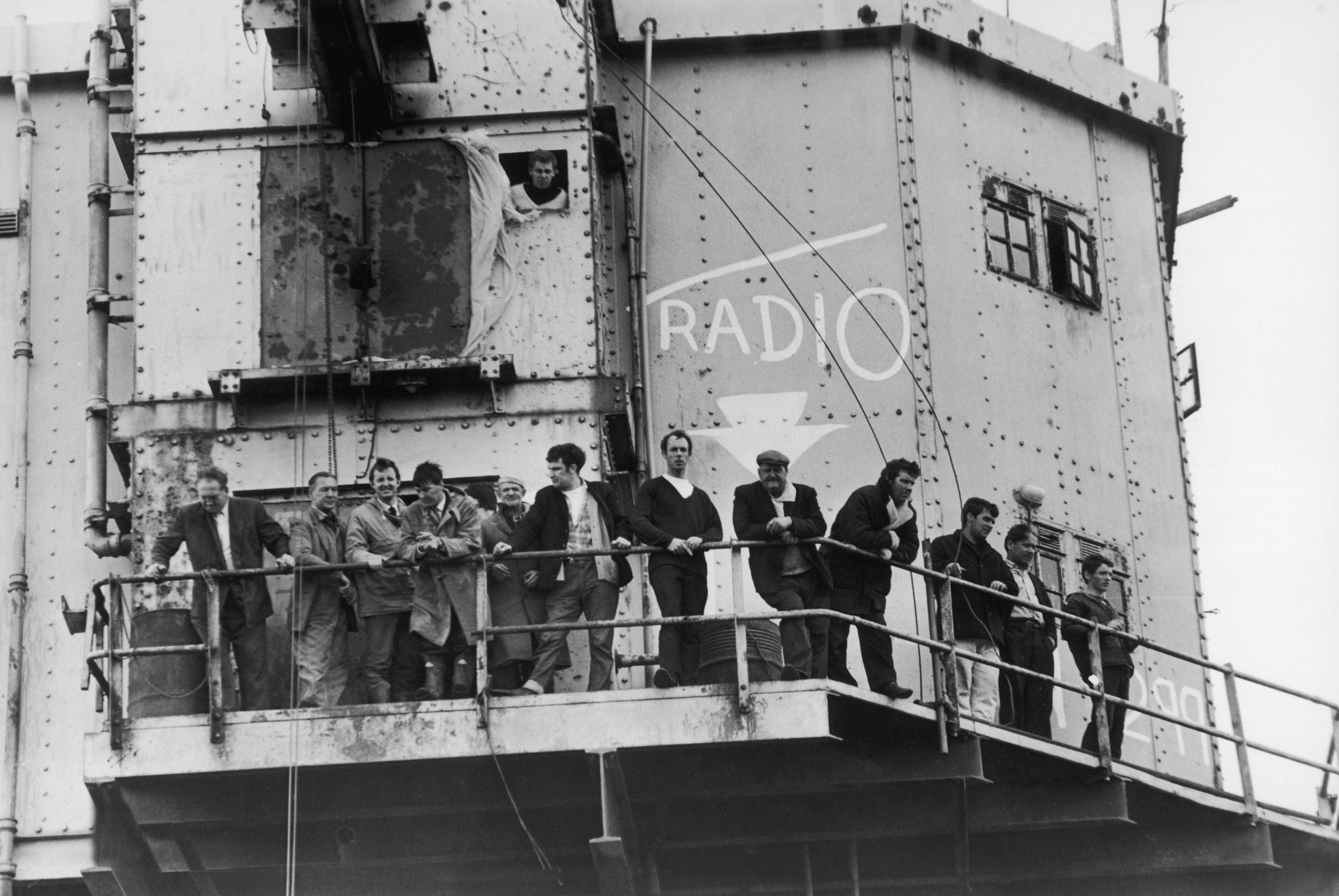 Police boarded Radio City at Shivering Sands after Reg Calvert was shot dead.