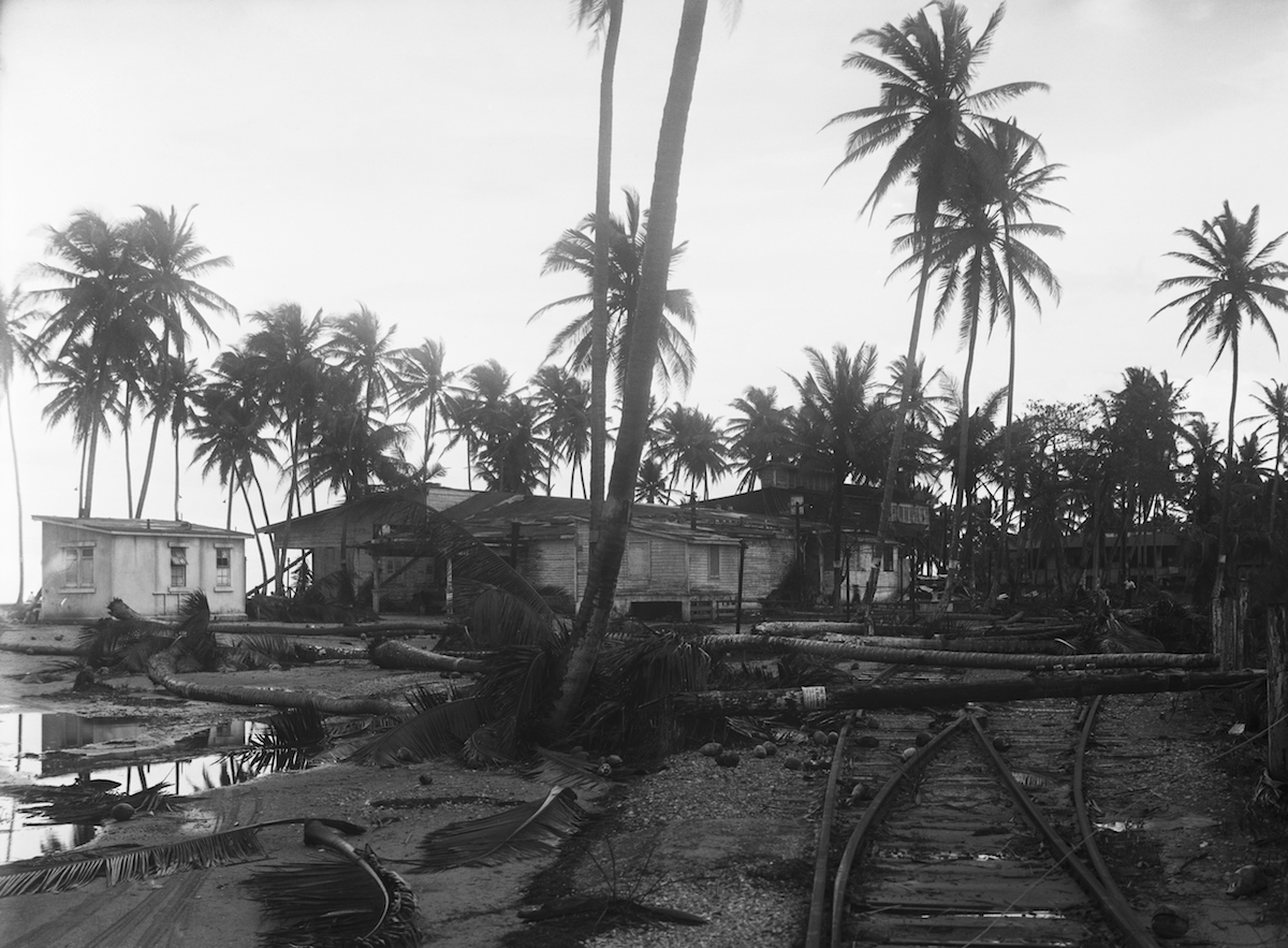 View of one of the suburbs of San Juan, where many were killed in the recent hurricane that swept through Puerto Rico in1928
